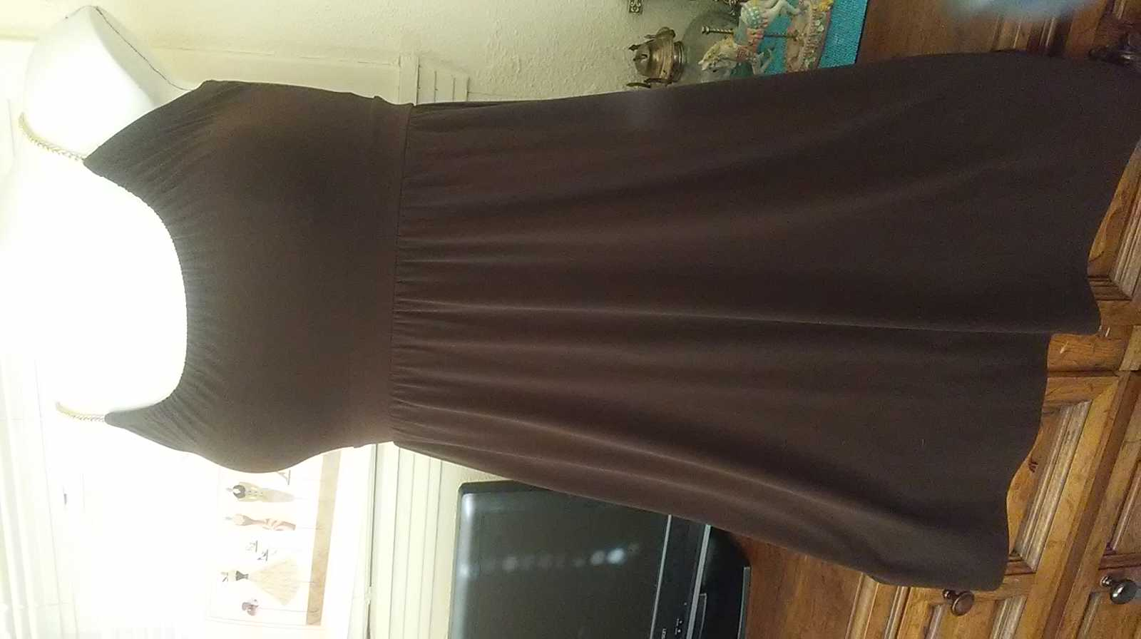 Michael Kors brown stretch dress