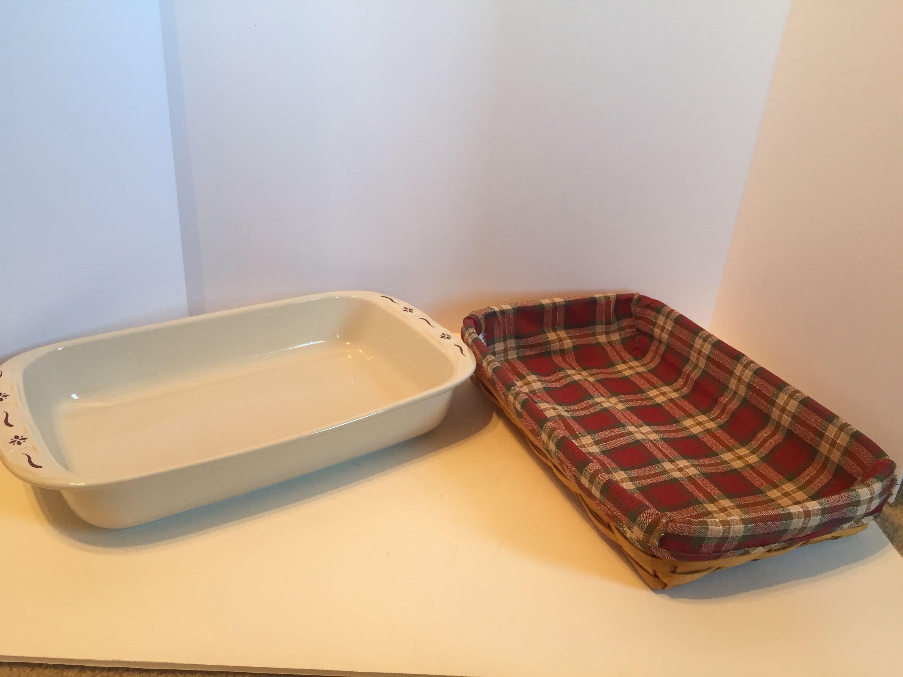 Longaberger - 9x13 Baking Dish #34771 - NEW