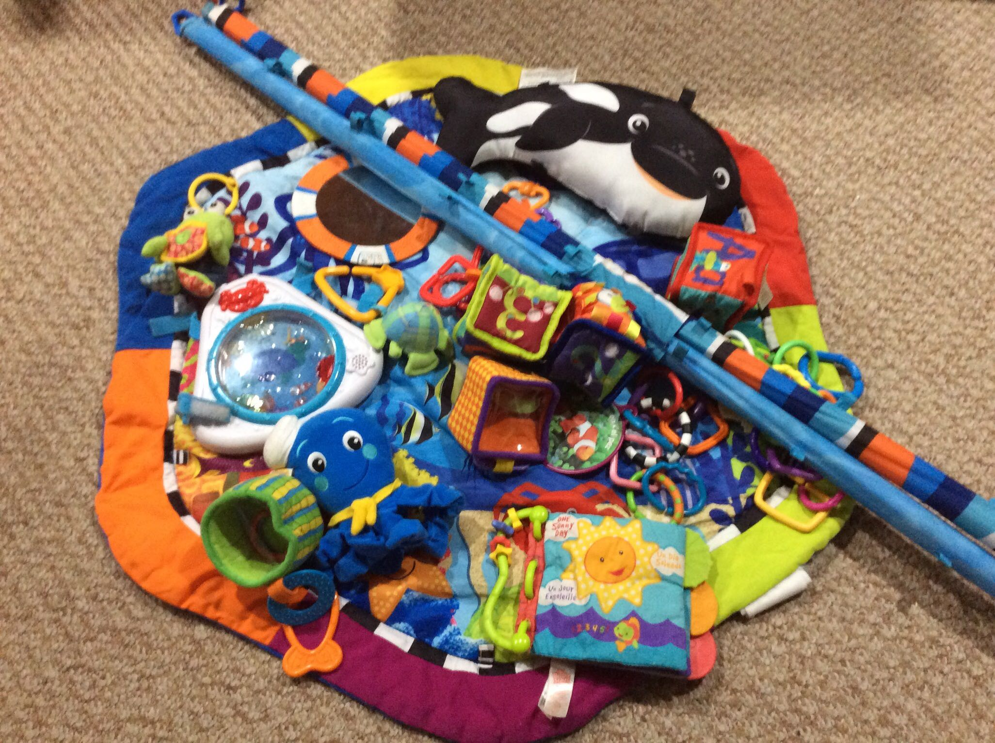 Play mat ocean theme activity centre in EUC for ages 0+
