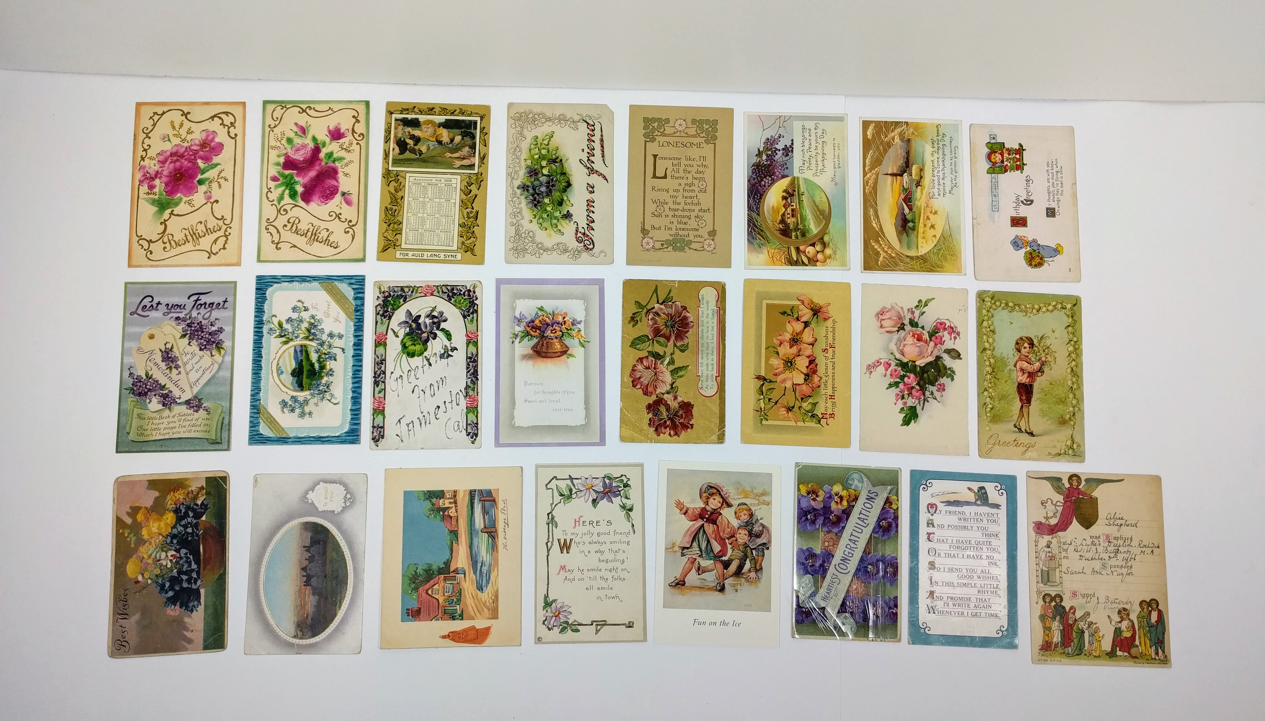 Old Vintage Collection of Postcards & Greeting Cards