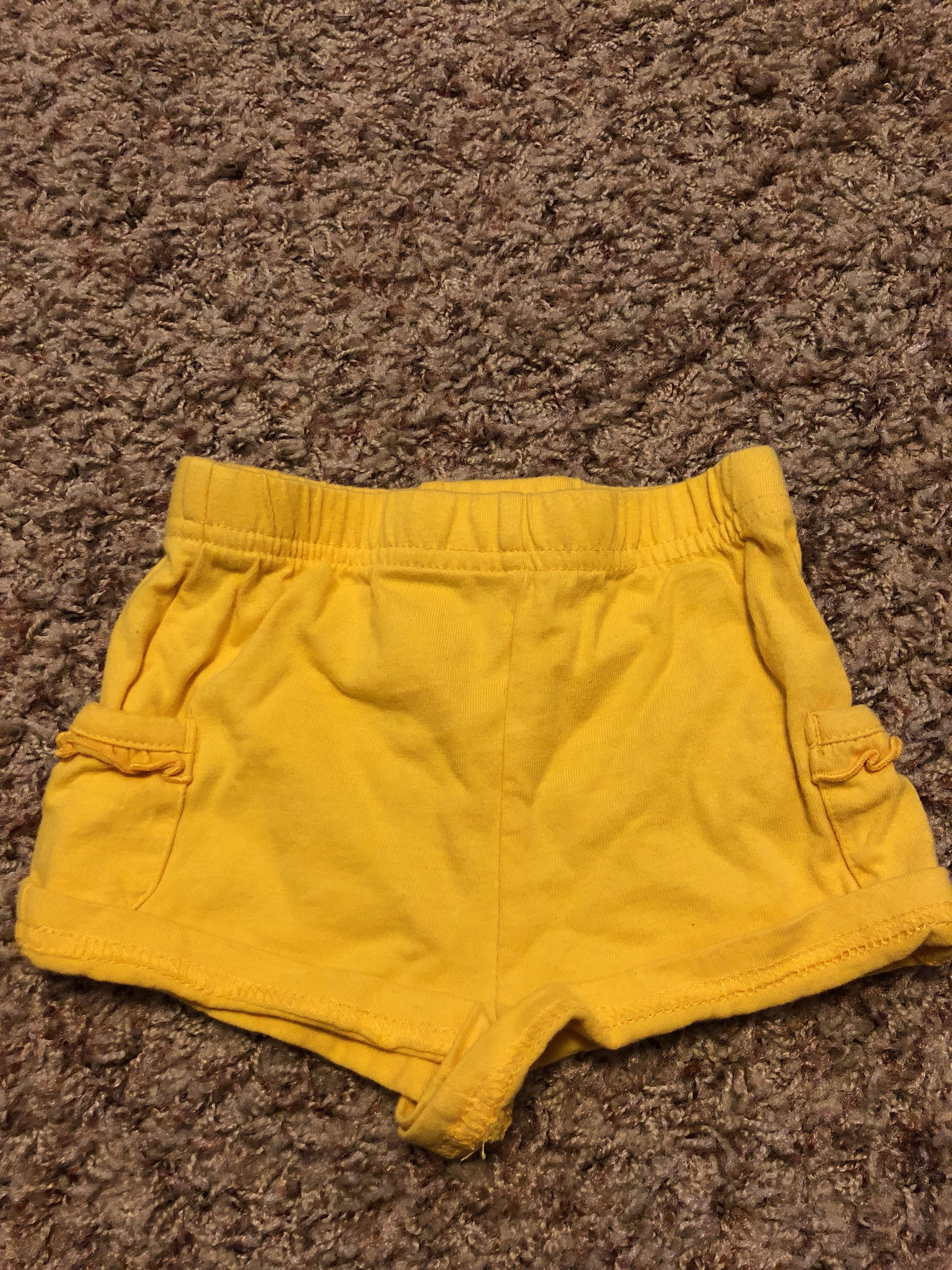 Yellow shorts size 12 months