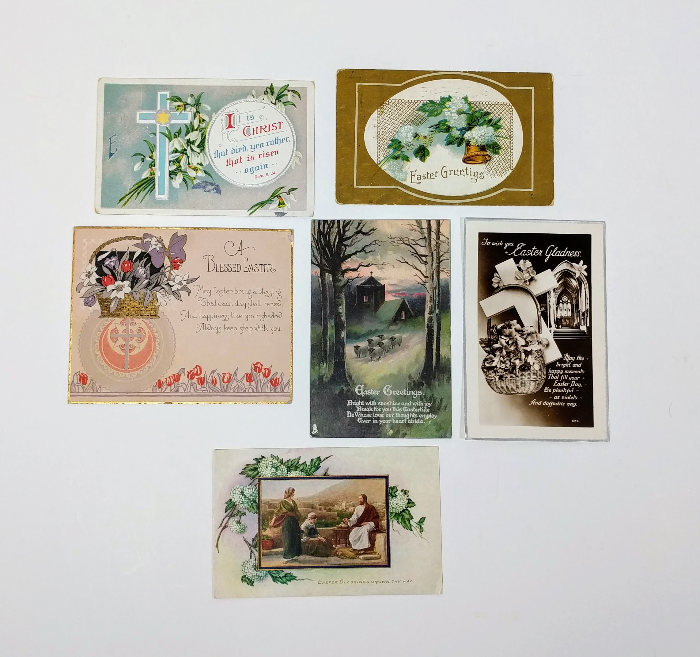 Old Vintage Collection of Easter Postcards & Greeting Cards