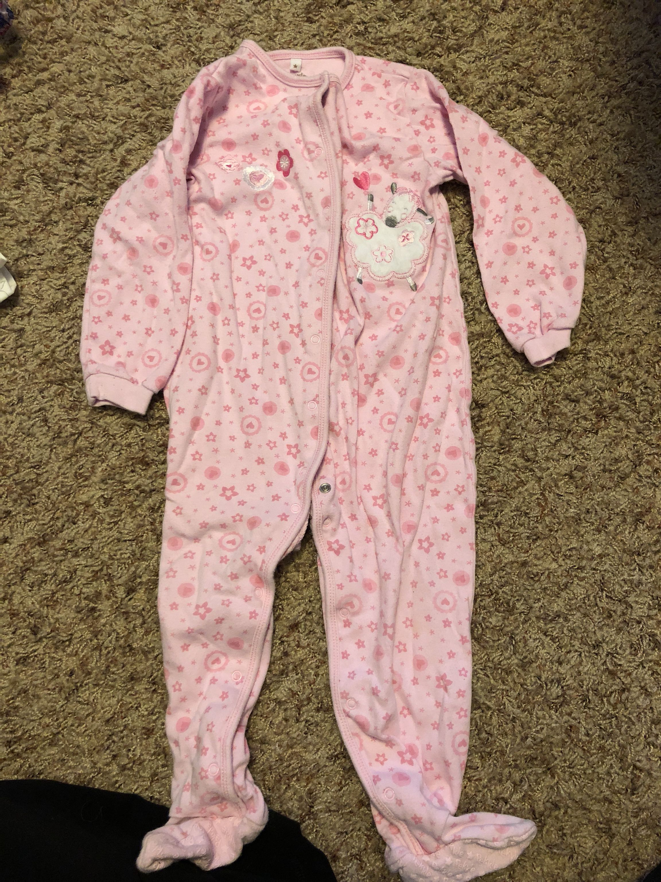Pekkle pink snap sleeper size 24 months