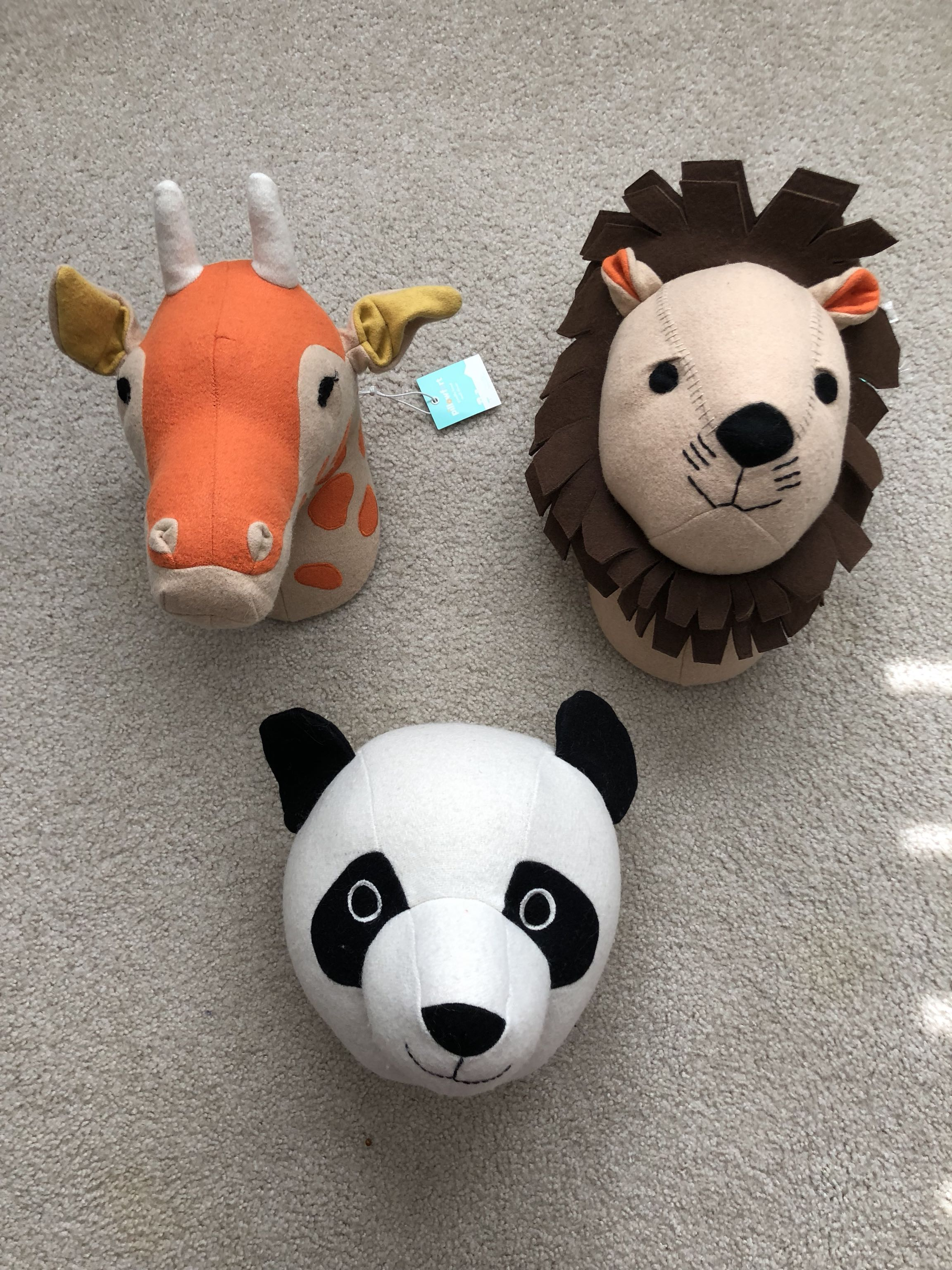 Top Best Pillowfort Stuffed Animal Head Kid Wall Decor Nursery -panda  BZ71