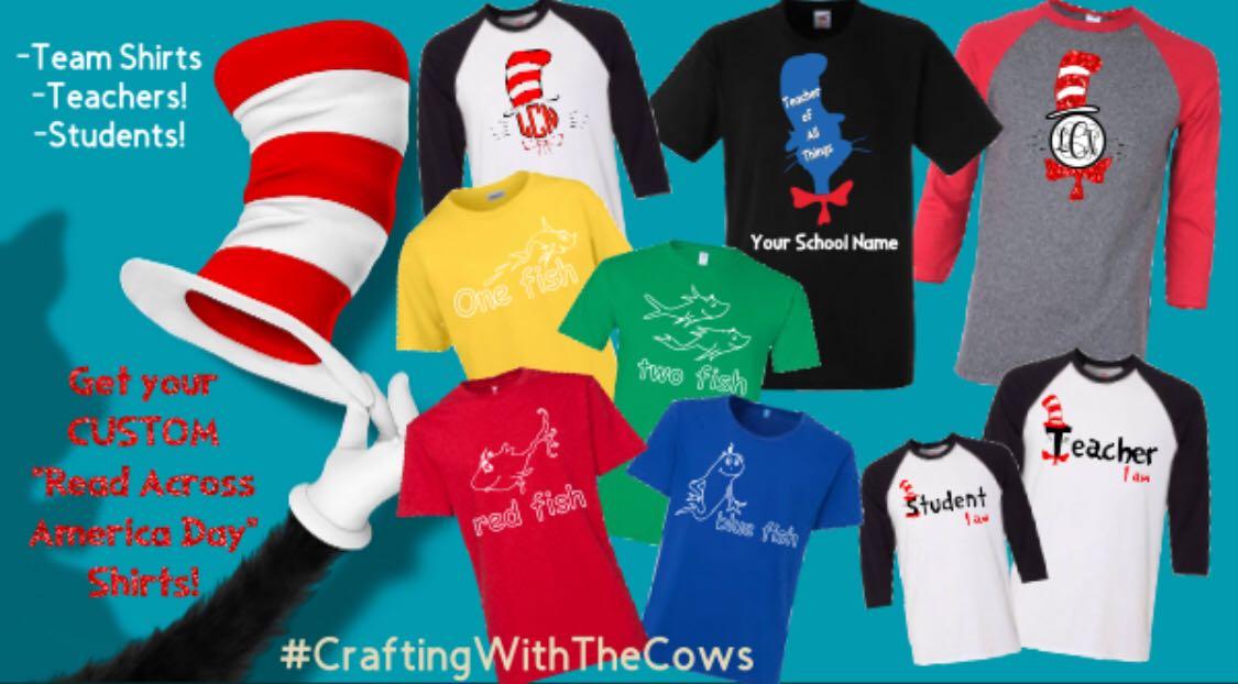 Seuss Day shirts!! (Adults & kids!)