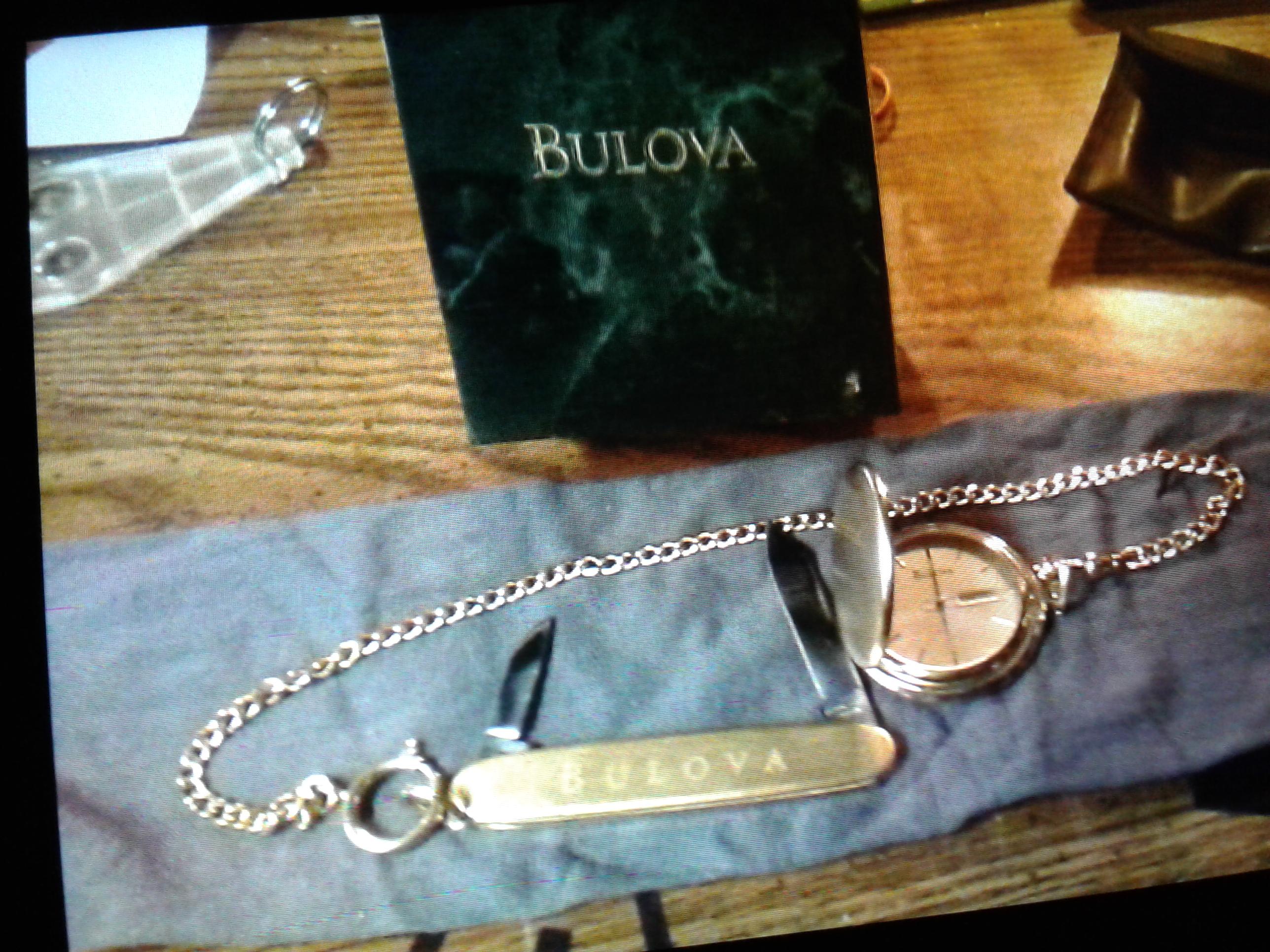 Vintage Bulova gold pocket watch