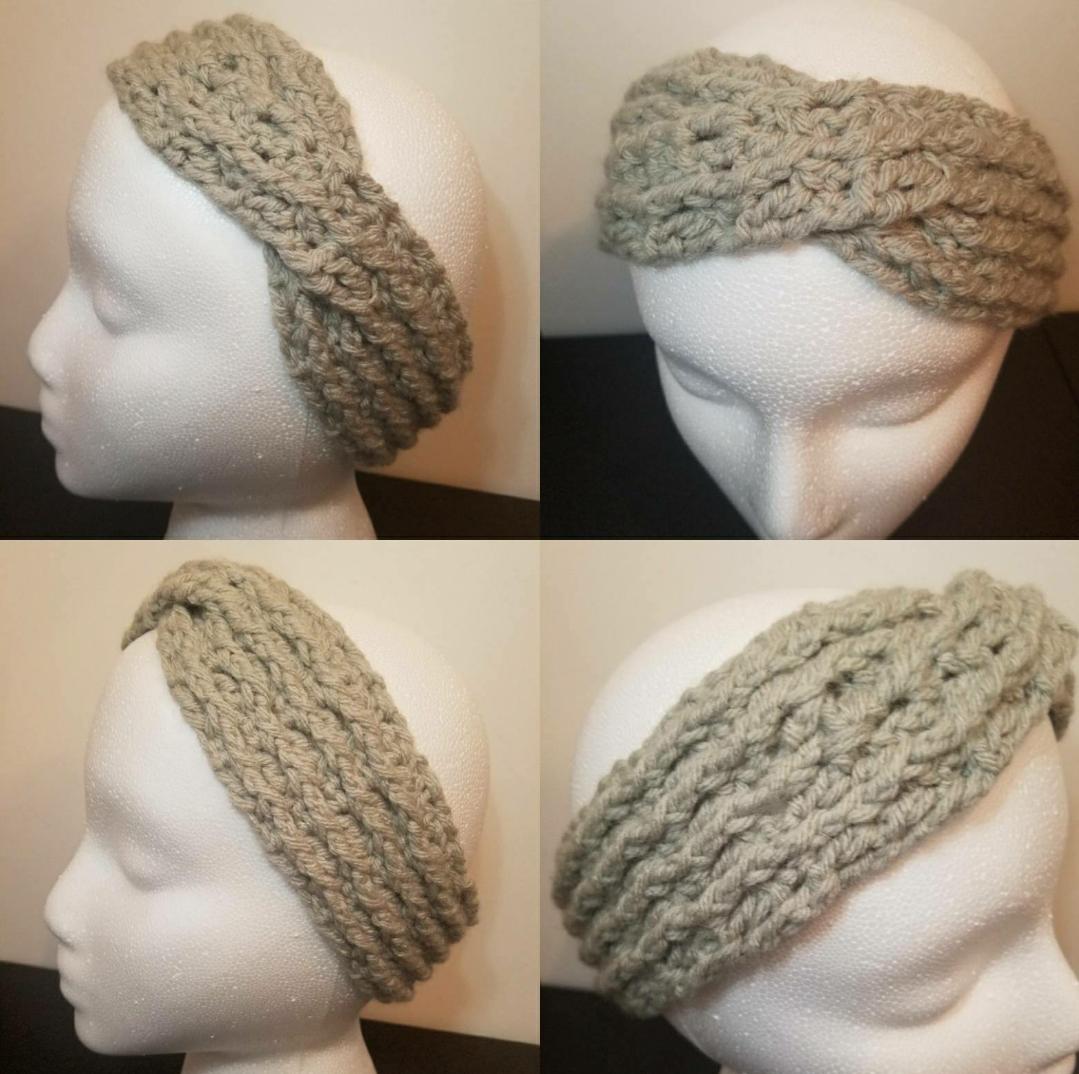 Custom crochet headband, 4 sizes, 24 color options
