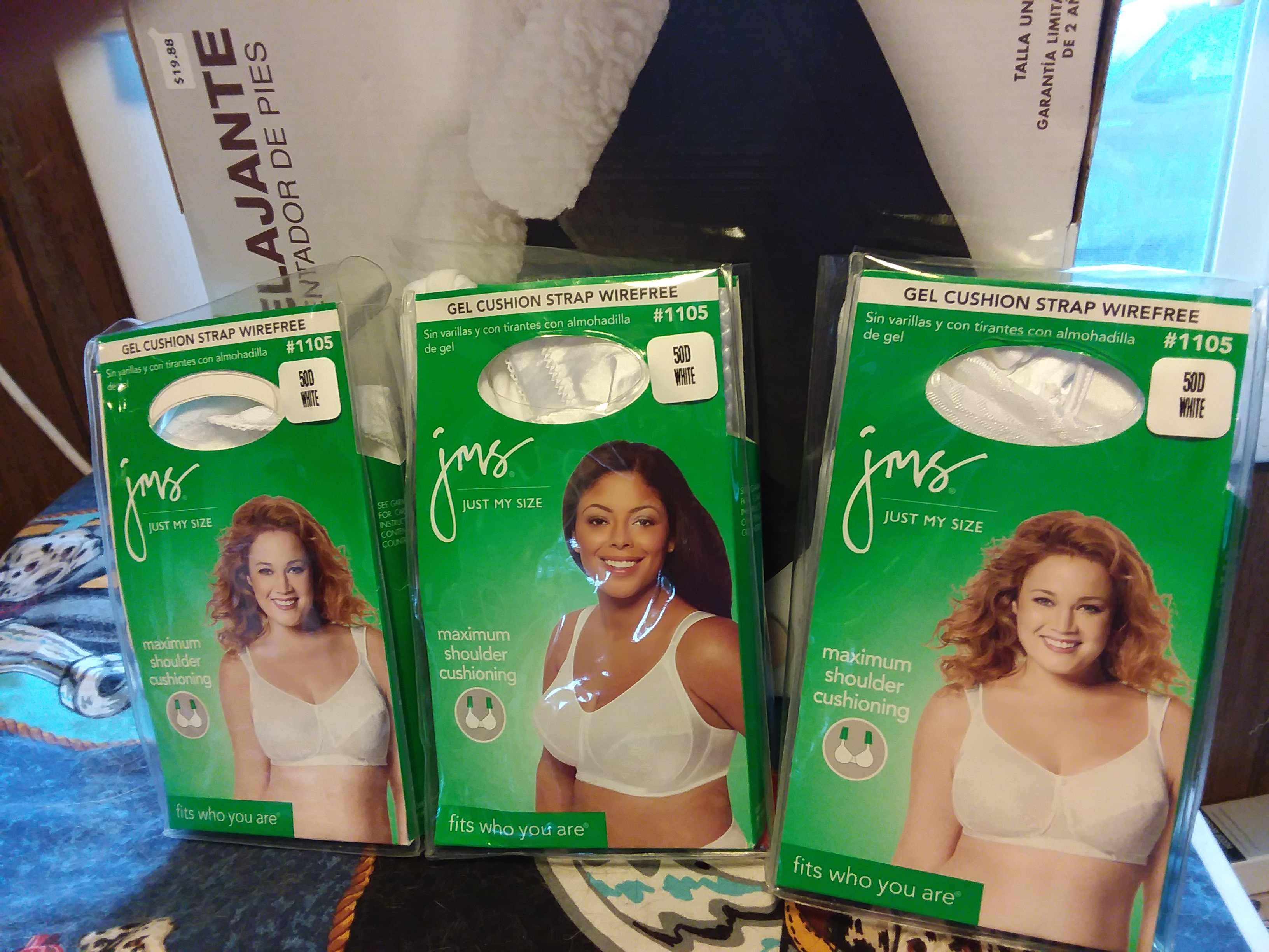3 New Just My Size Bra's Size 50 D