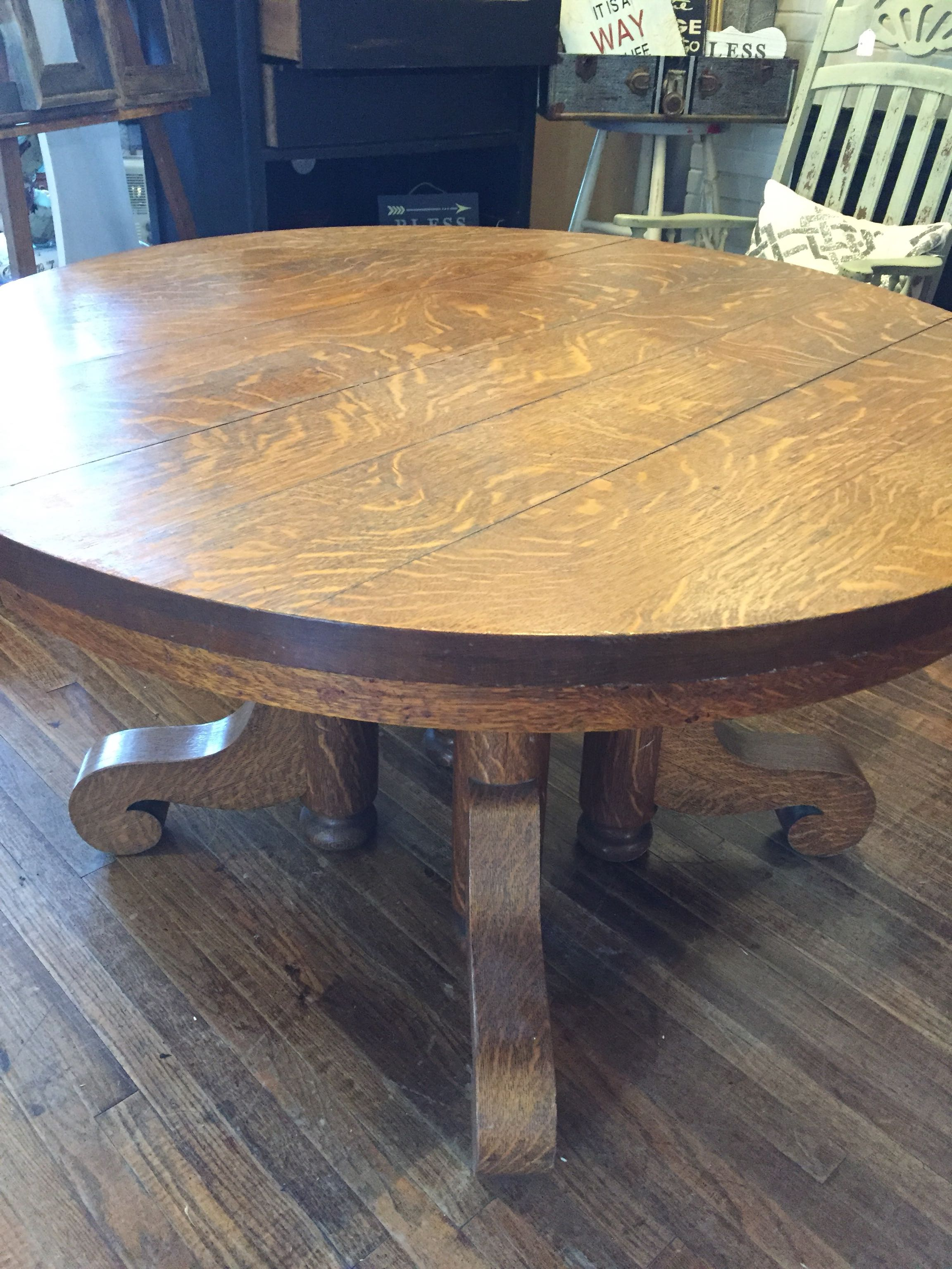 Antique Tiger Wood Table