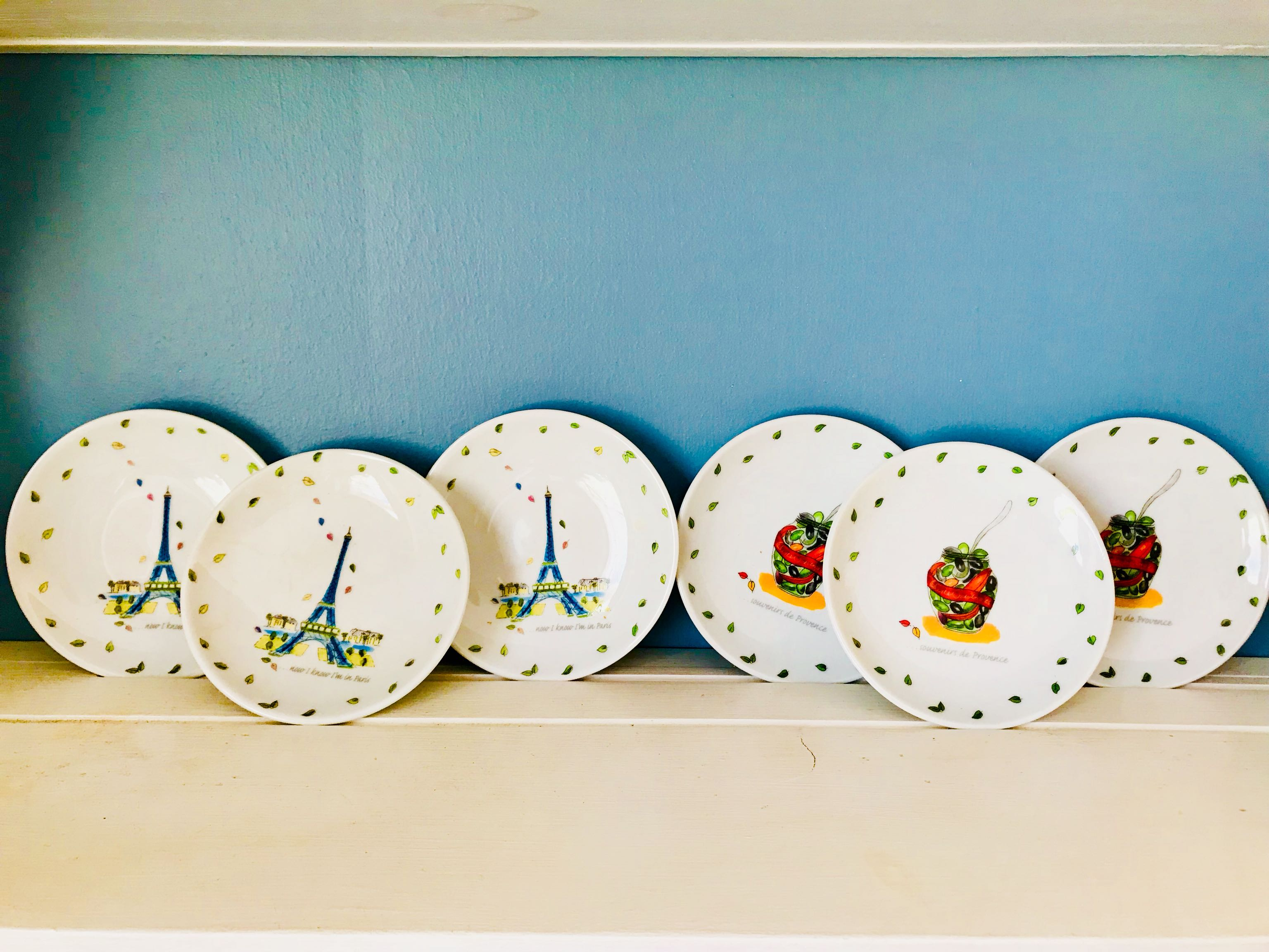 French Hors d'oeuvre Plates/Decorative Plates, cross posted