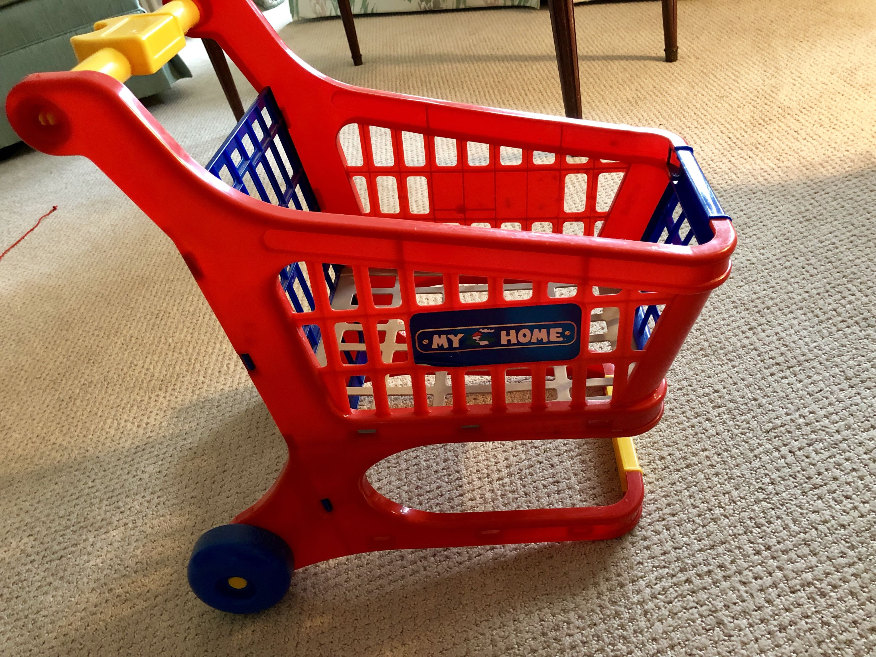 Toddler learn to walk shopping cart