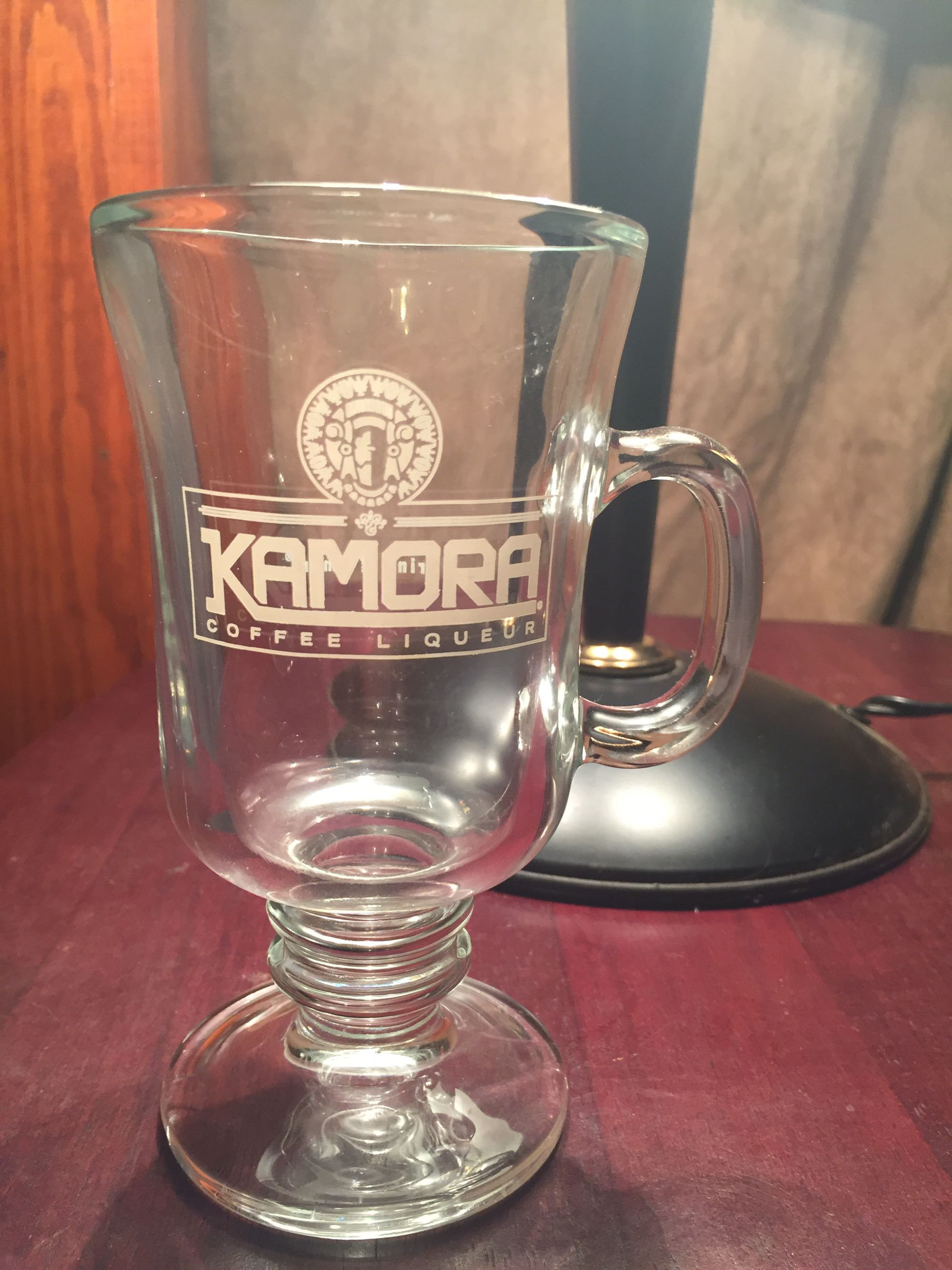 Kamora coffee liqueur glass cup