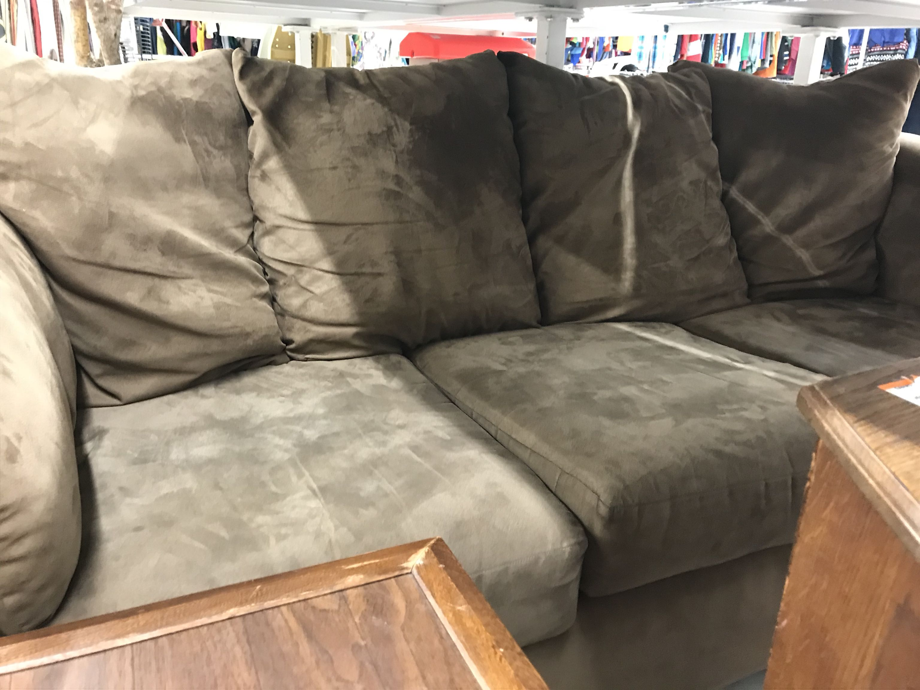 Beautiful suede couch