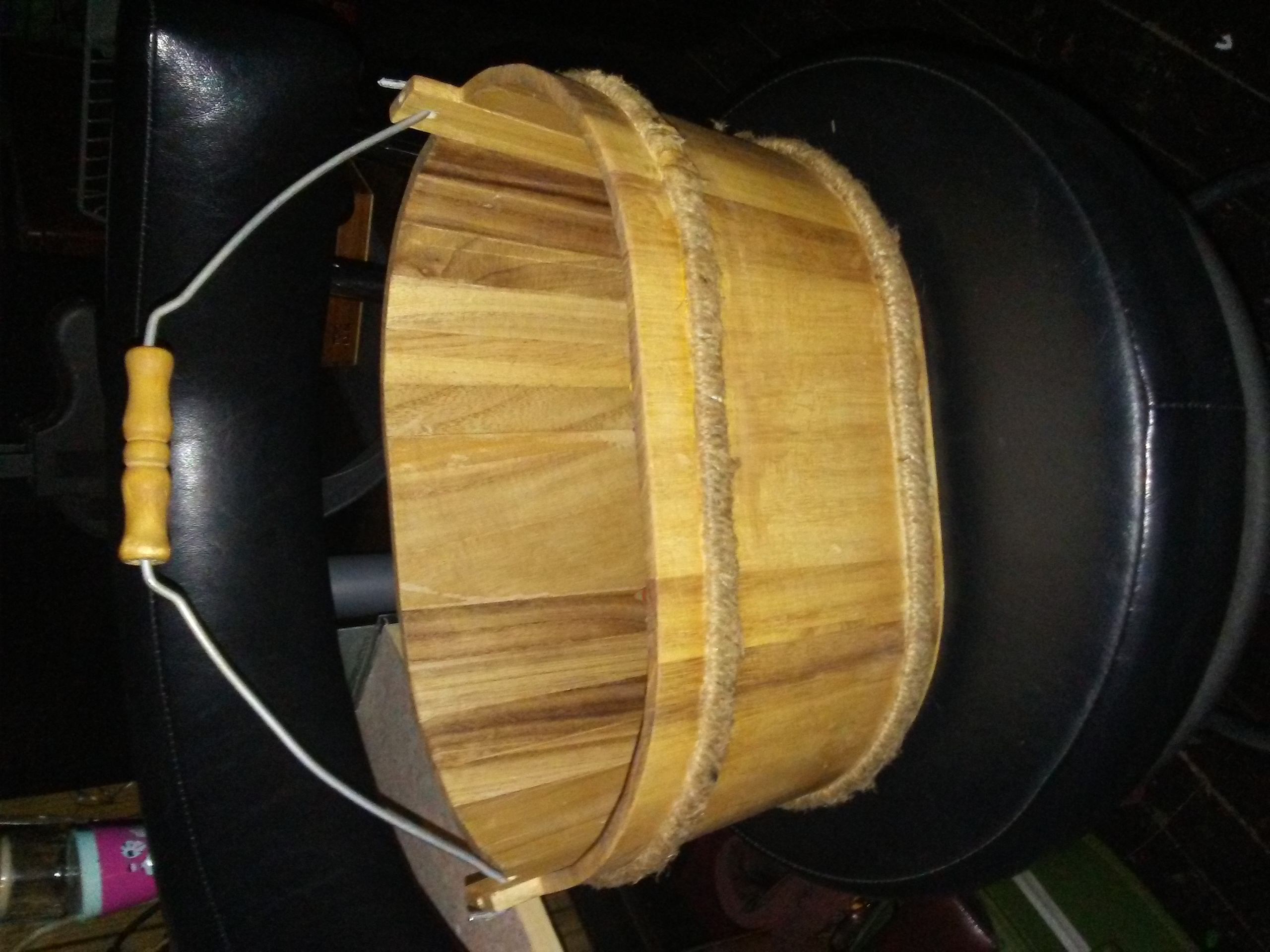 Wood Washtub Style Basket