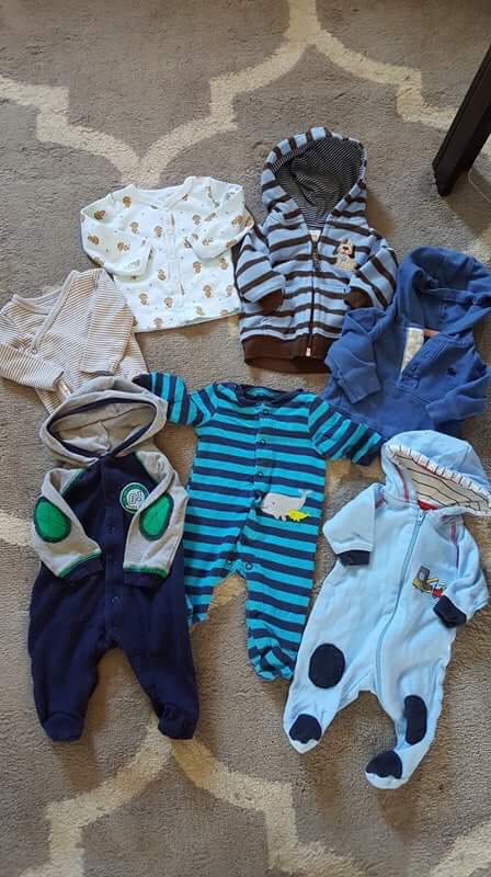 Newborn and 0-3 baby clothes lot
