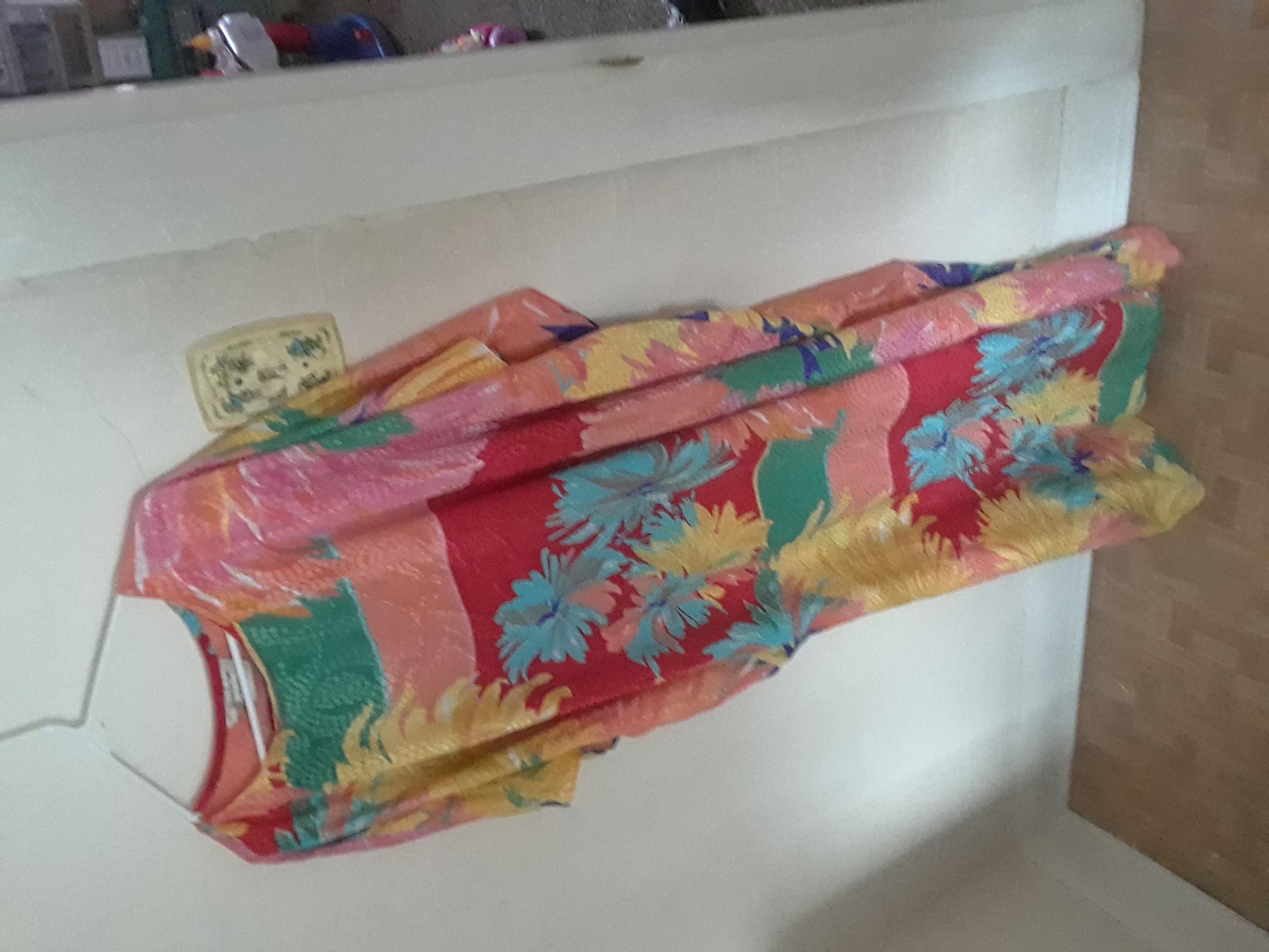 VIBRANT Silk Robe Dress (slightly see-through)
