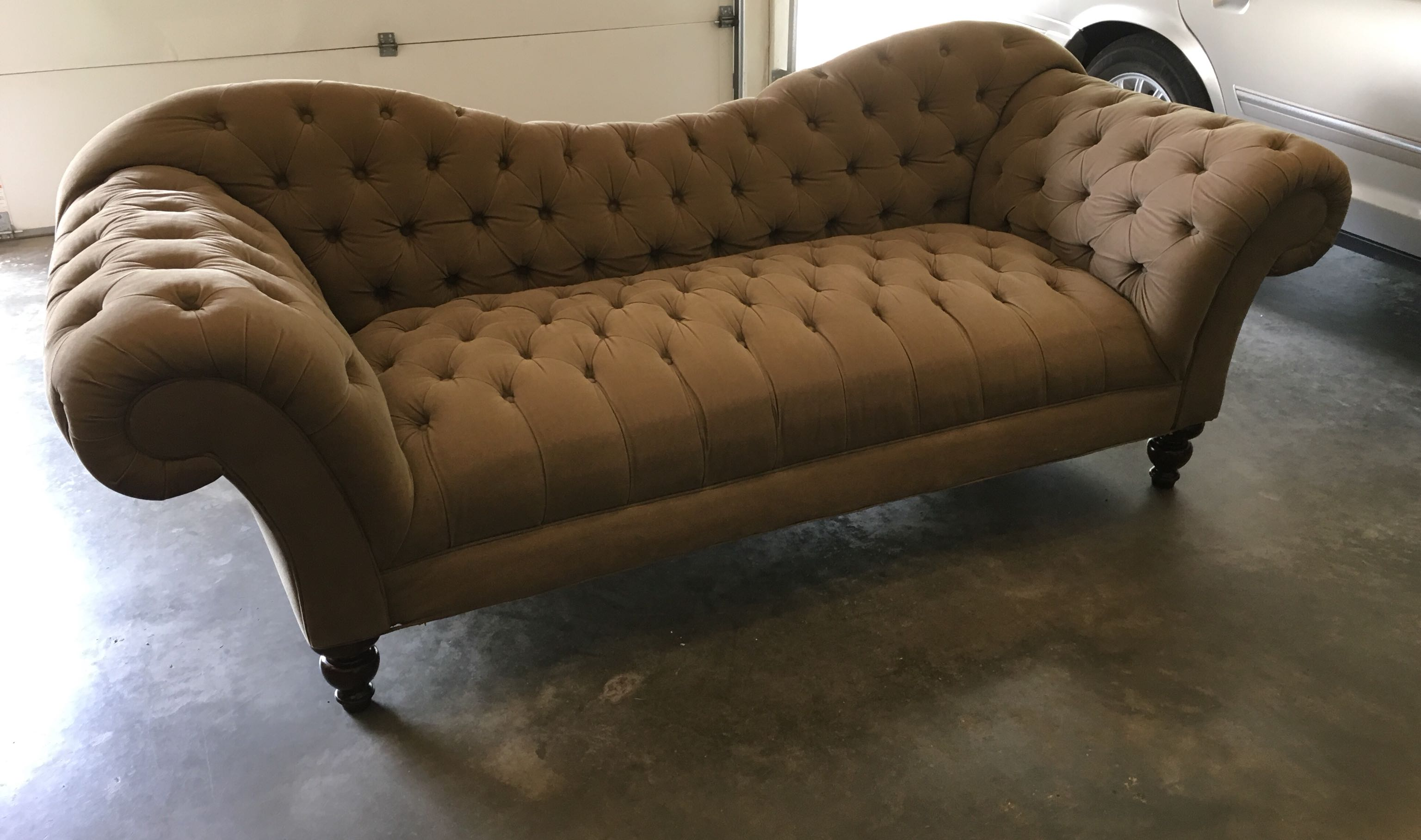 Tanish/Brown Tufted Couch