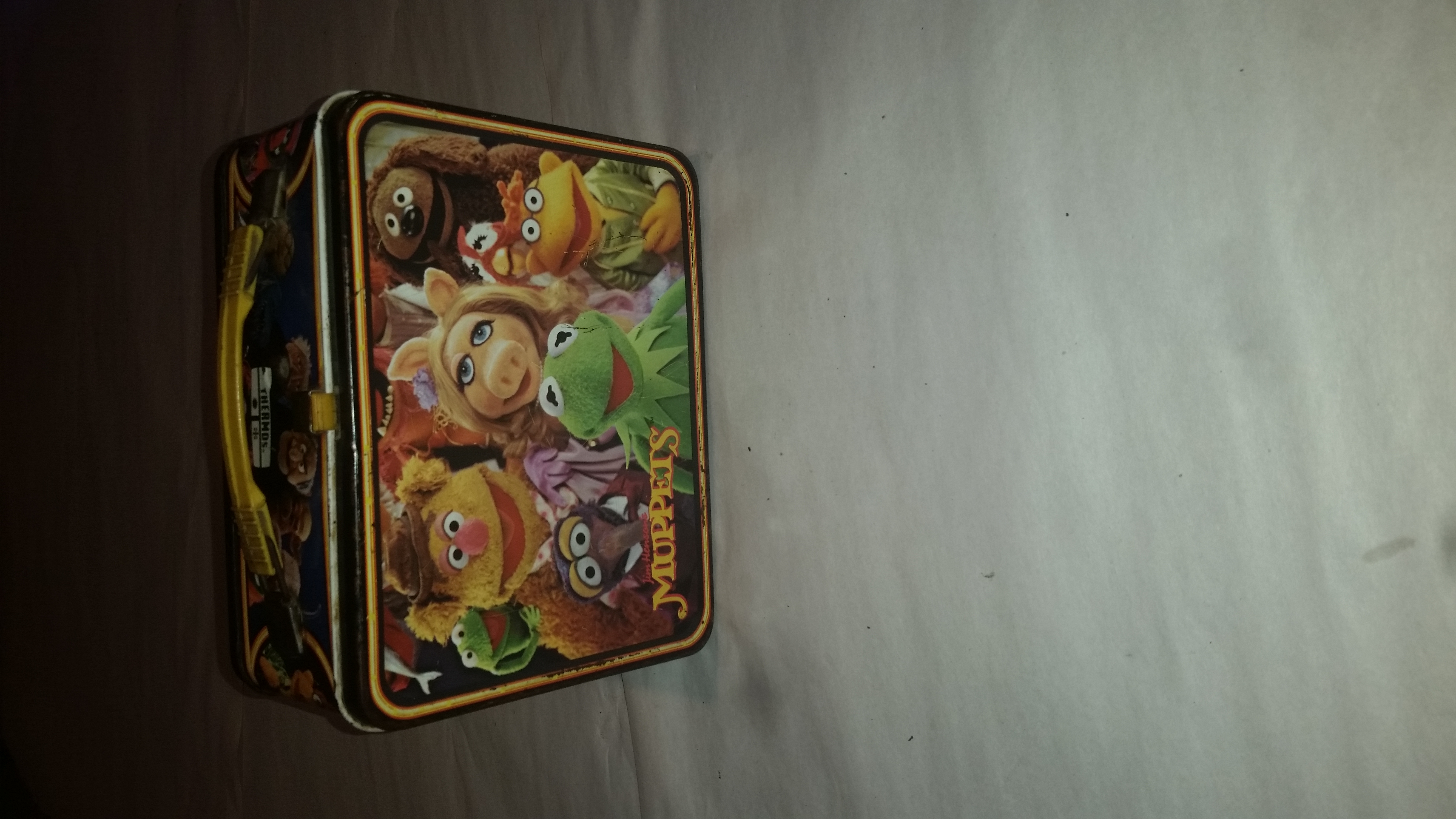 Old school metal Muppets lunch box