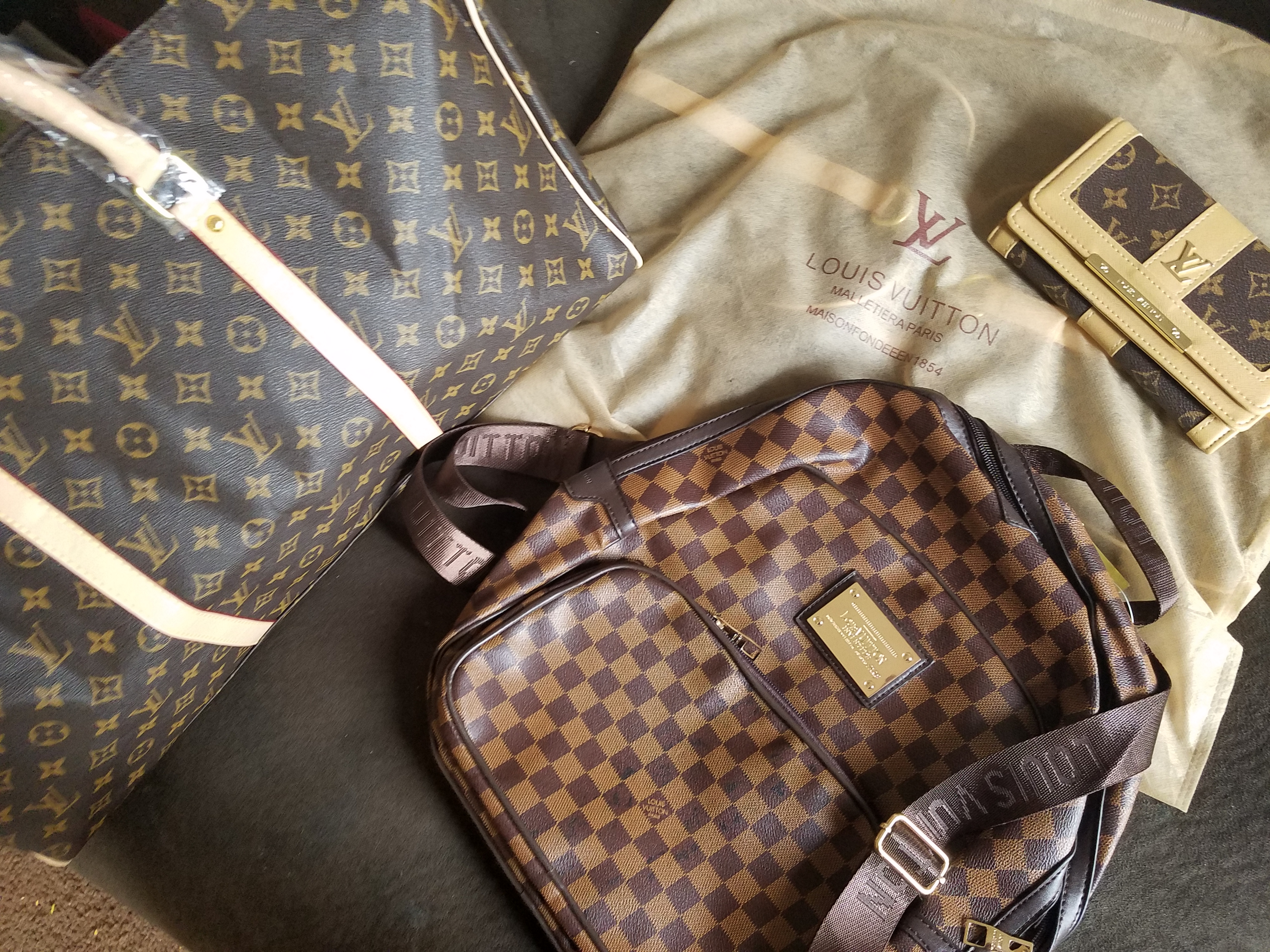 LOUIS Vuitton BRAND NEW leather backpack