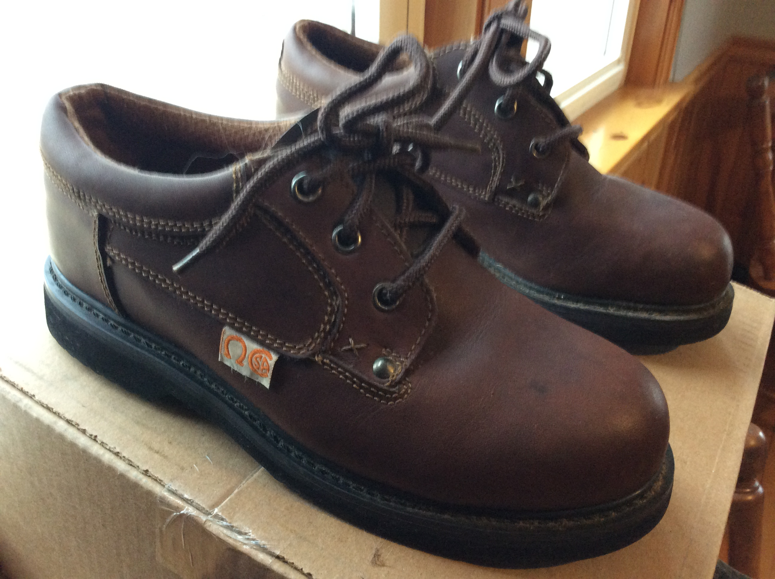 C.s.a. Steel toe shoes