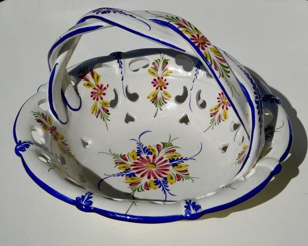 Beautiful RCCL Hand Painted Ceramic Bowl W/ Twisted Handle - $45 (Bethesda)