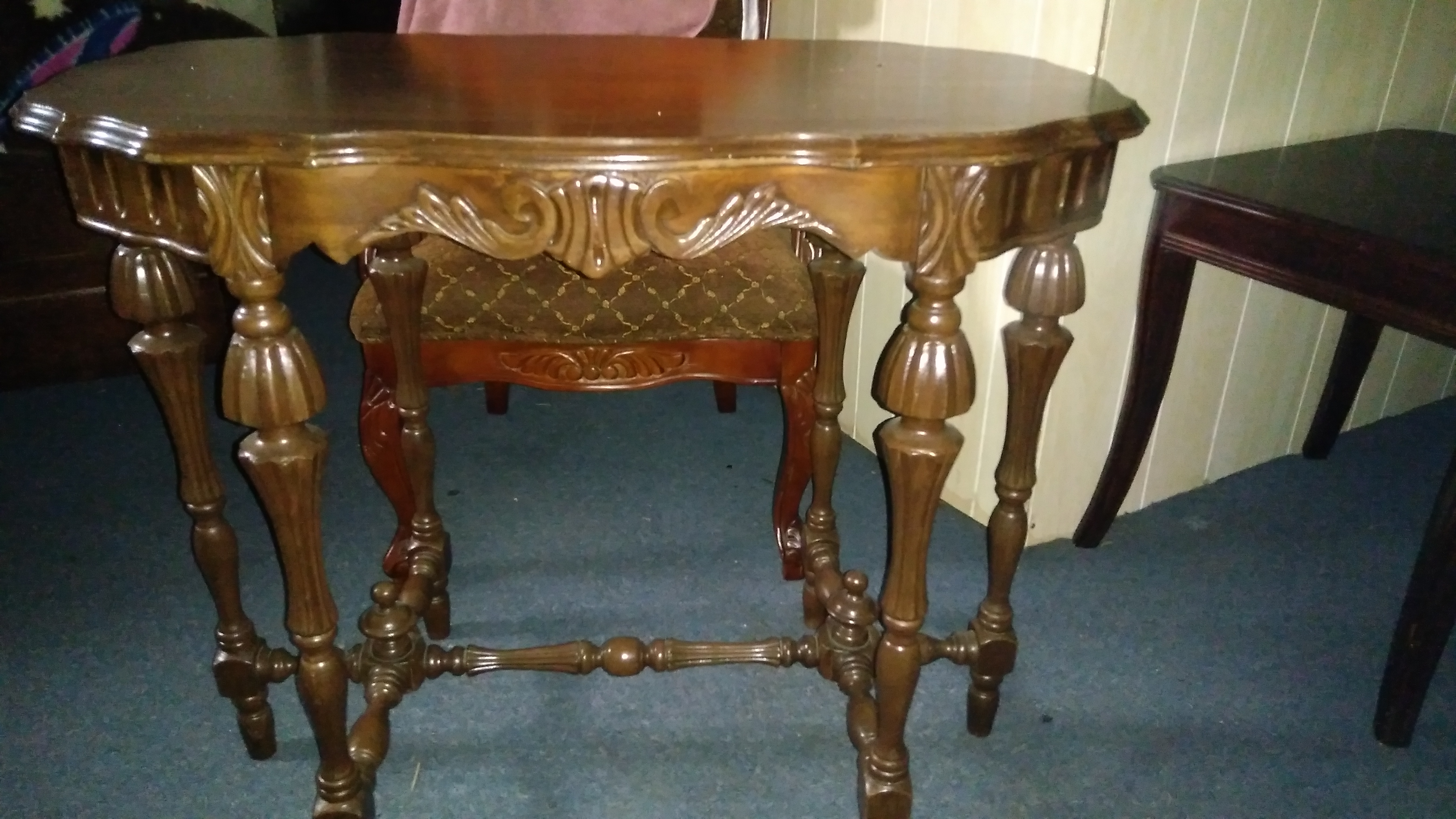 Antique table chair