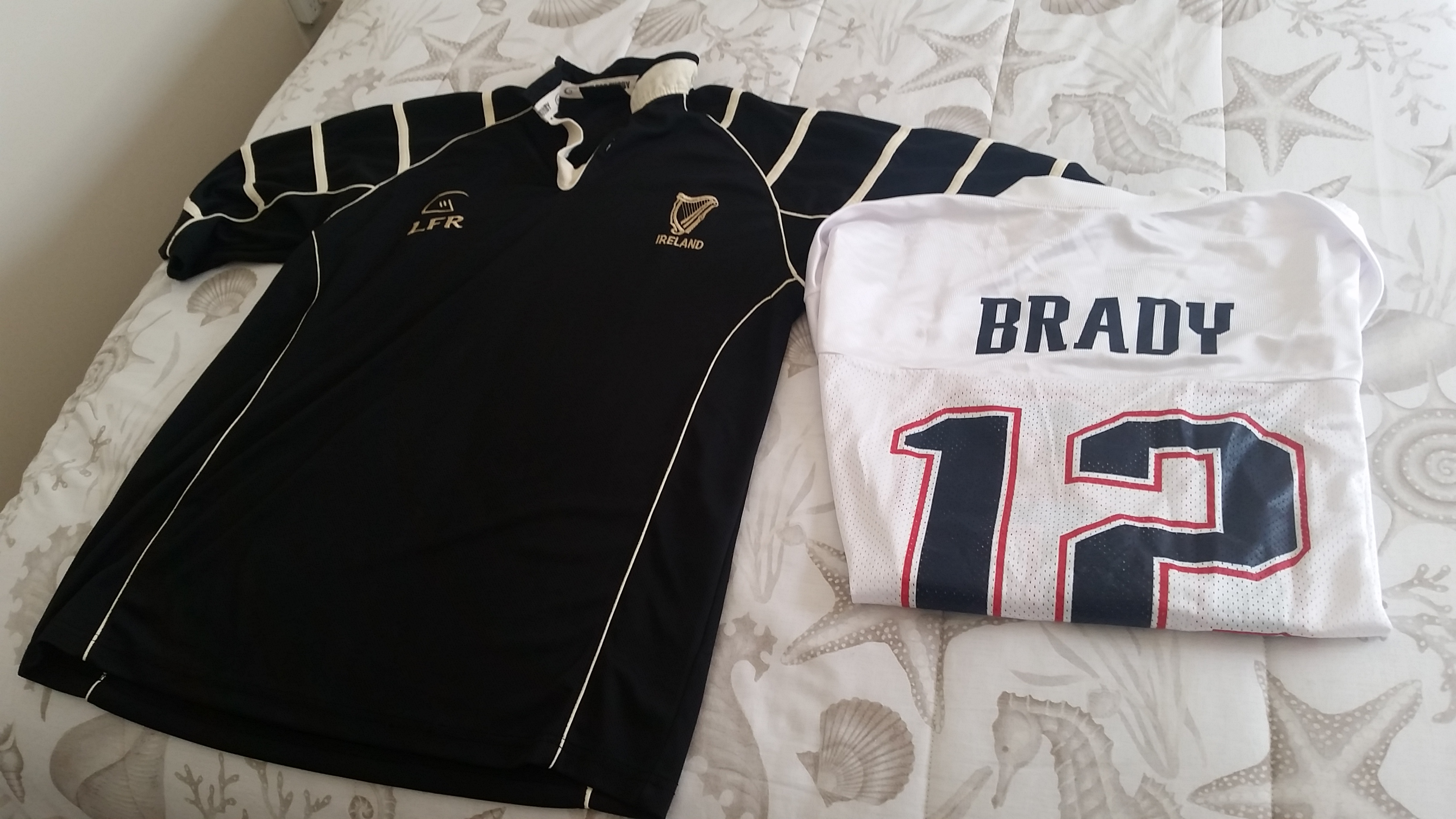 Patriots and Guiness Rugby Jerseys