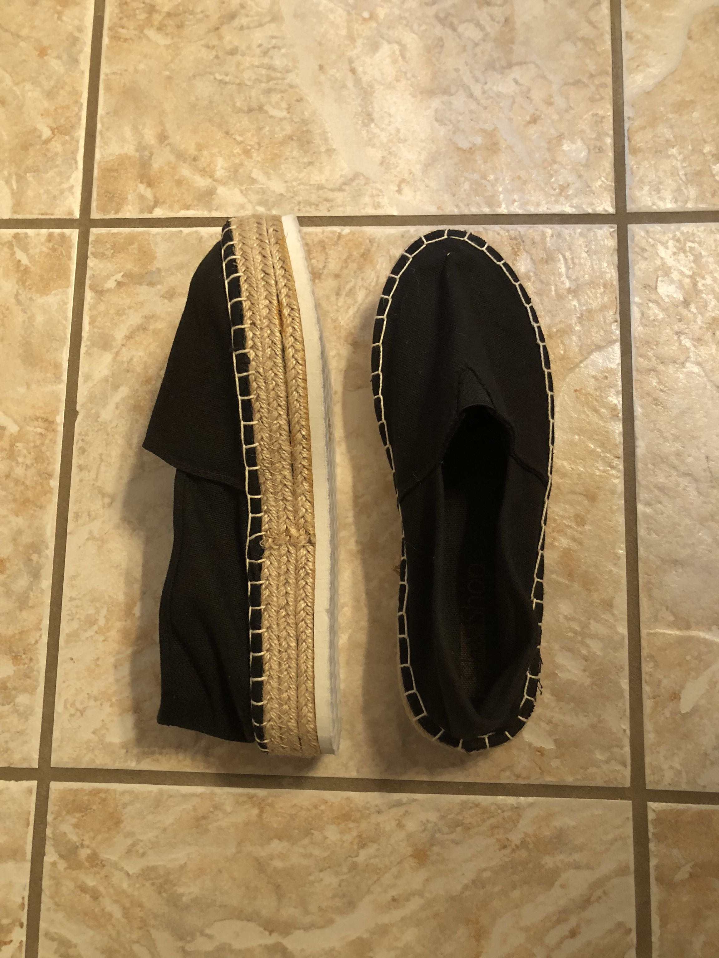 Women's black shoes. Worn once. Size 10
