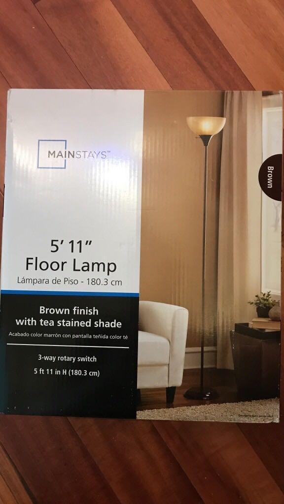 2 Mainstays floor lamps