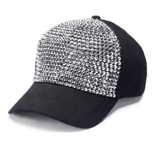 Crystal studded hat