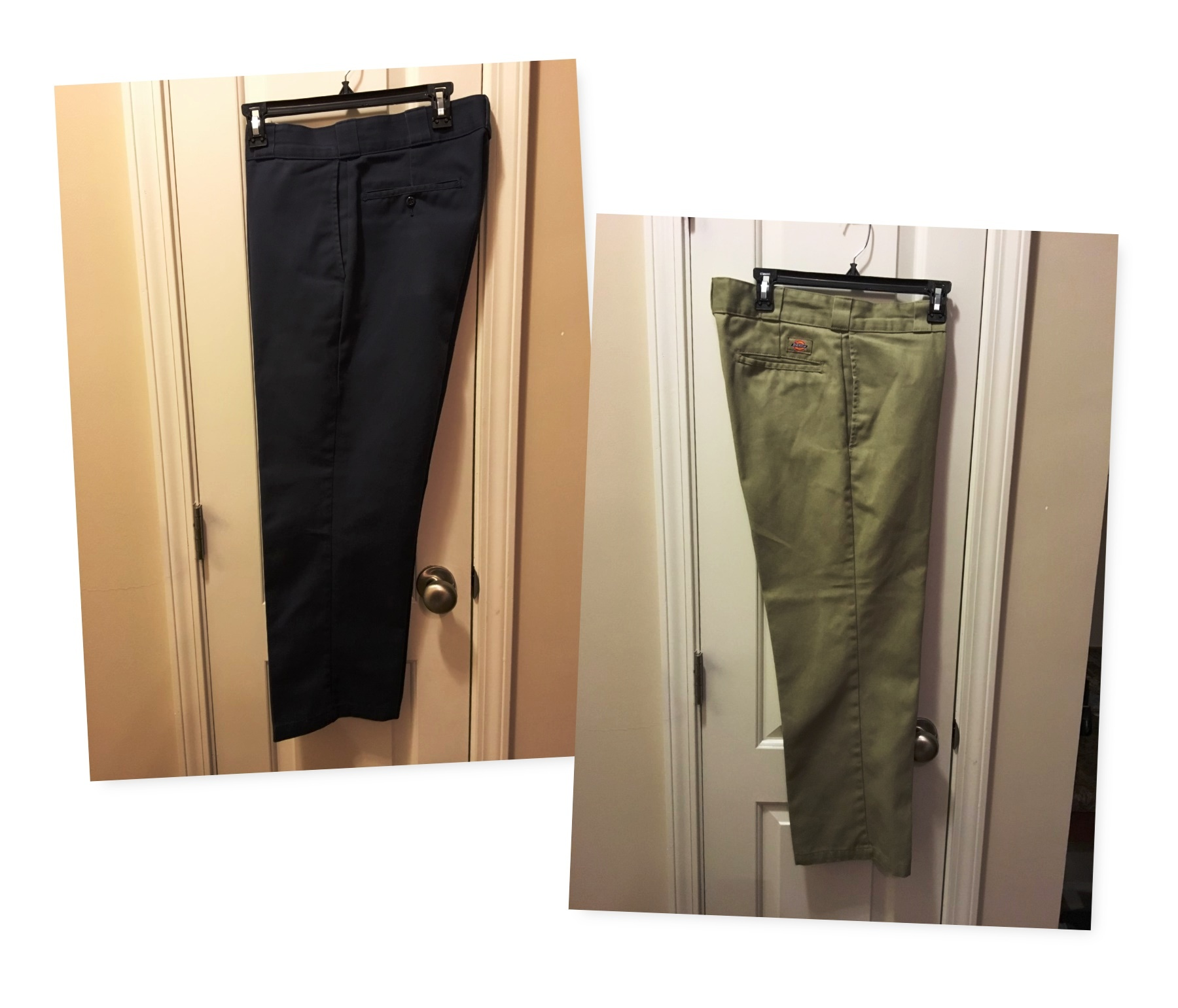 Two Pair of Dickies Work Pants (Khaki and Navy)