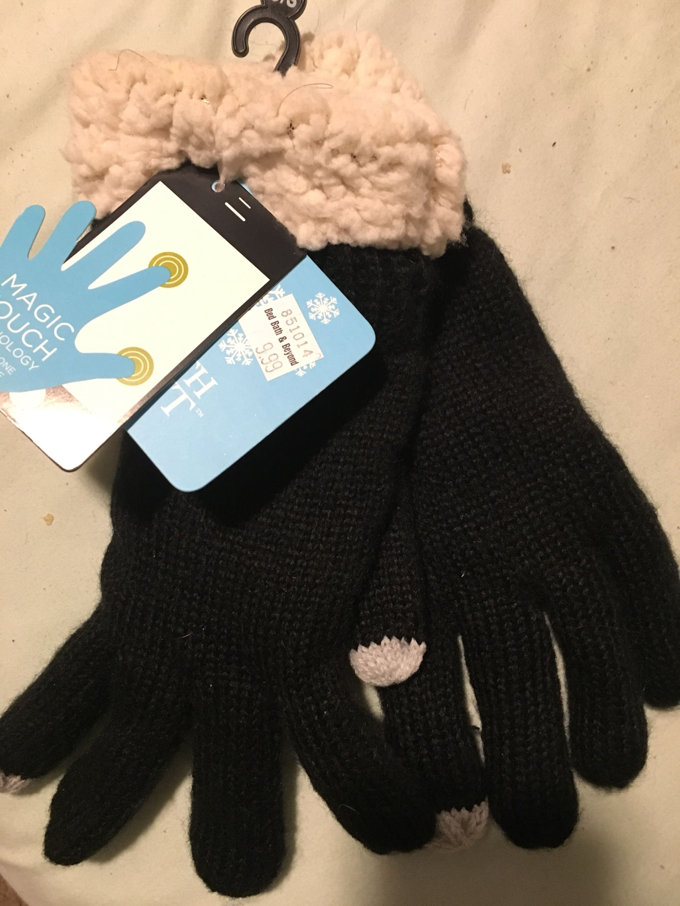 New with tags magic touch black gloves