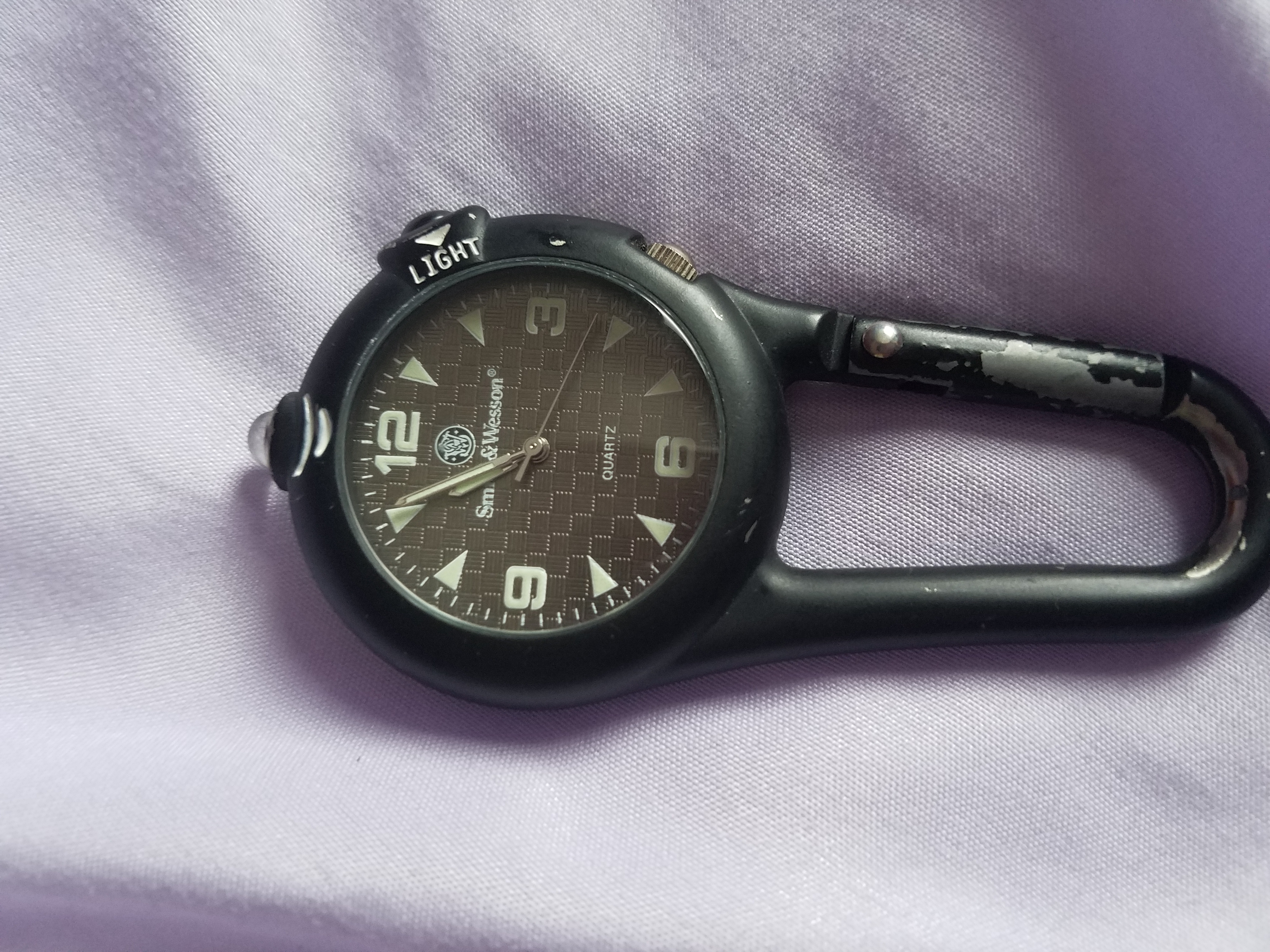 Smith & Wesson carabiner watch