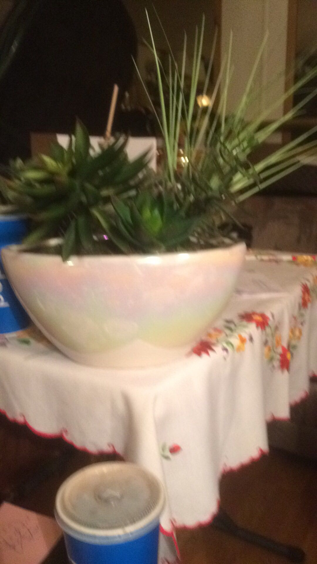 4 Artificial Plants in Bowl