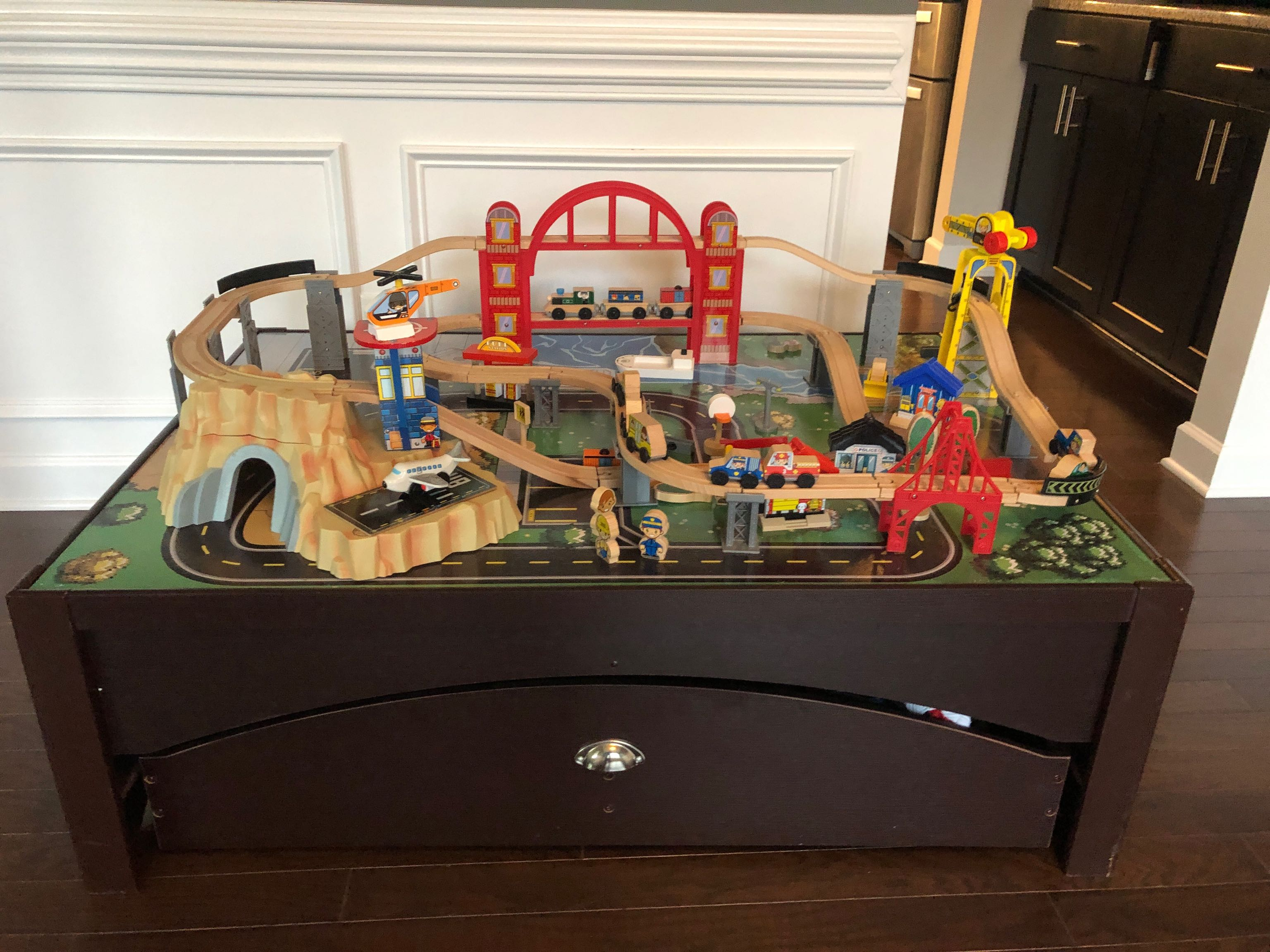 KidKraft Train Set and Table with accessories included