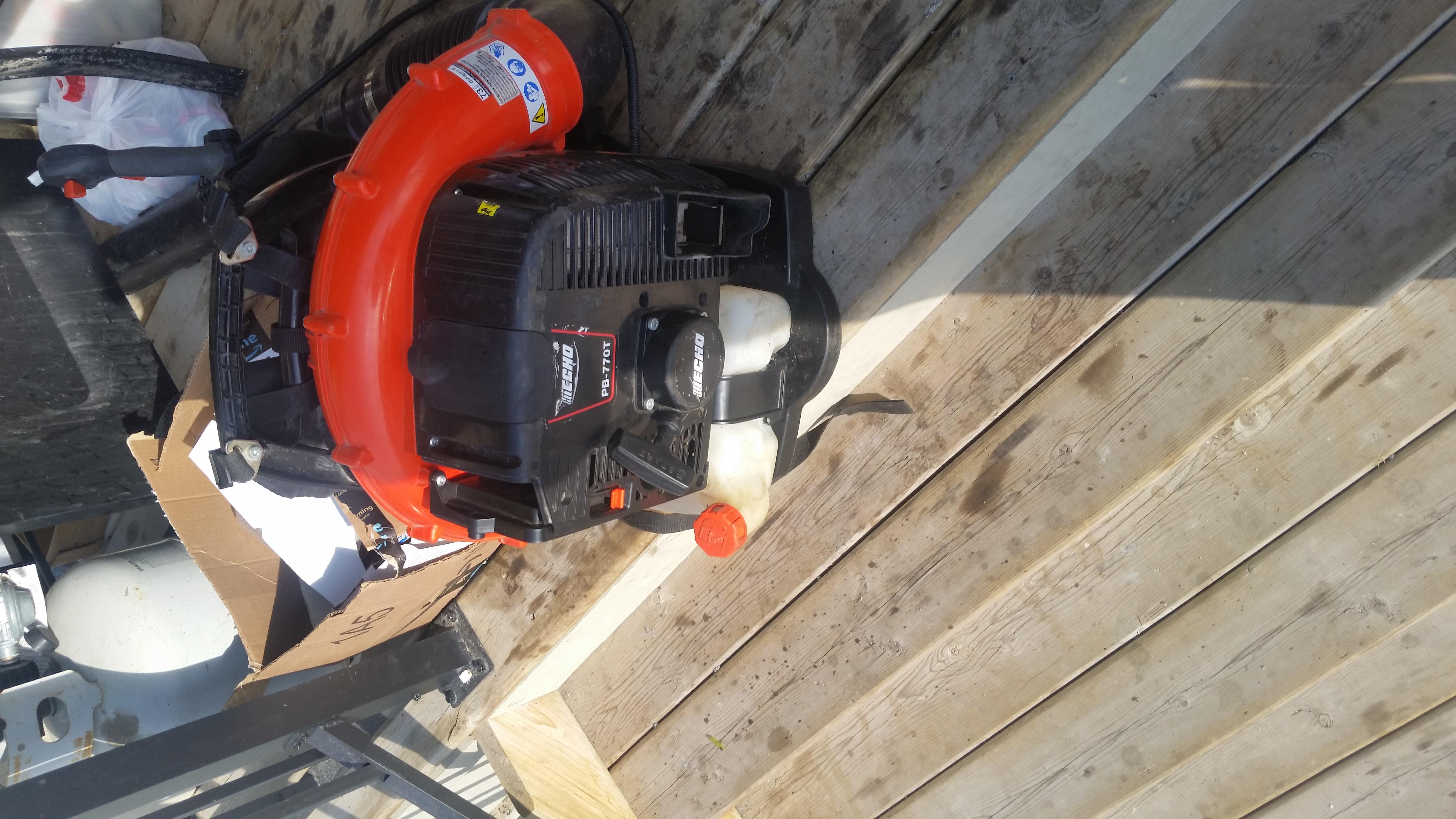 Echo pb770t leaf blower