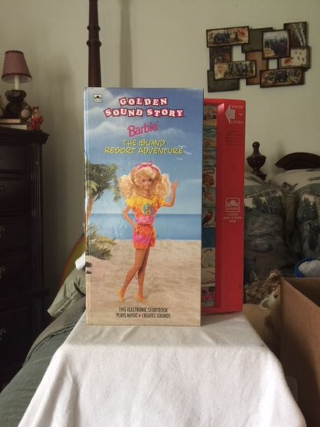 """REDUCED - Good Used Condition of the Barbie """"The Island Resort Adventure"""" Golden See and SOUND Story - Board Book $3.00"""