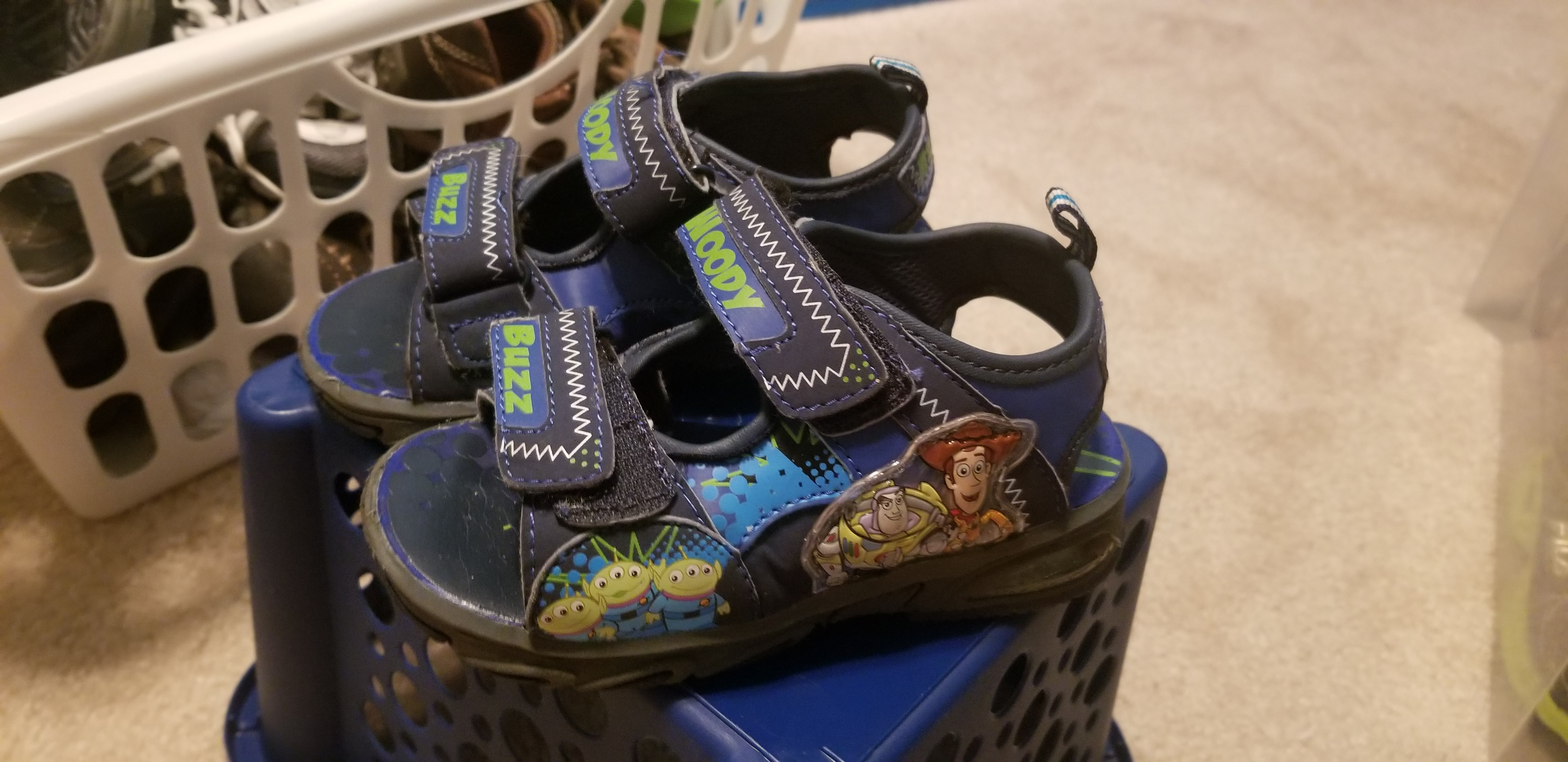 Excellent Toy Story Boys Sandals size 9