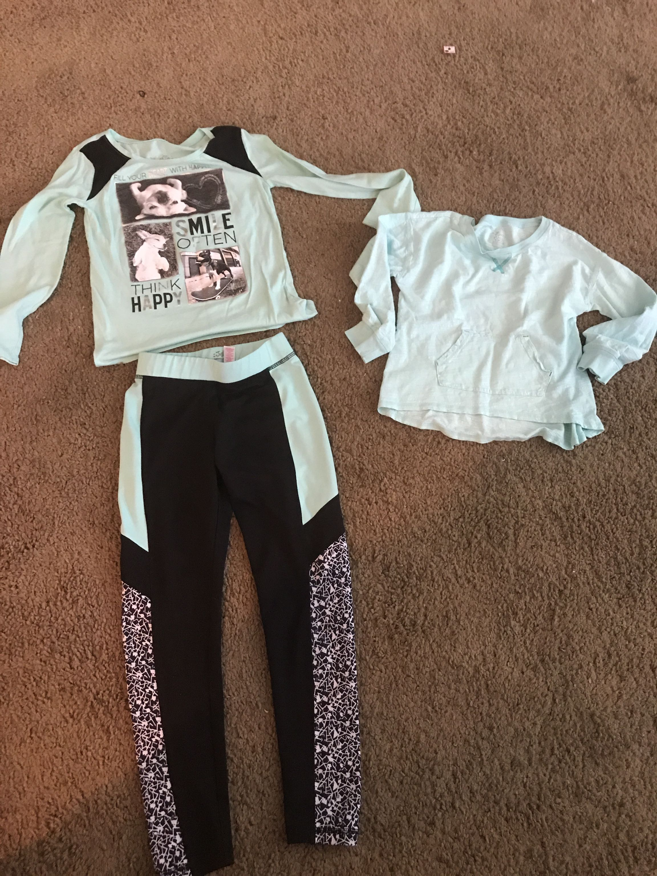 Justice Top and pants Size 8