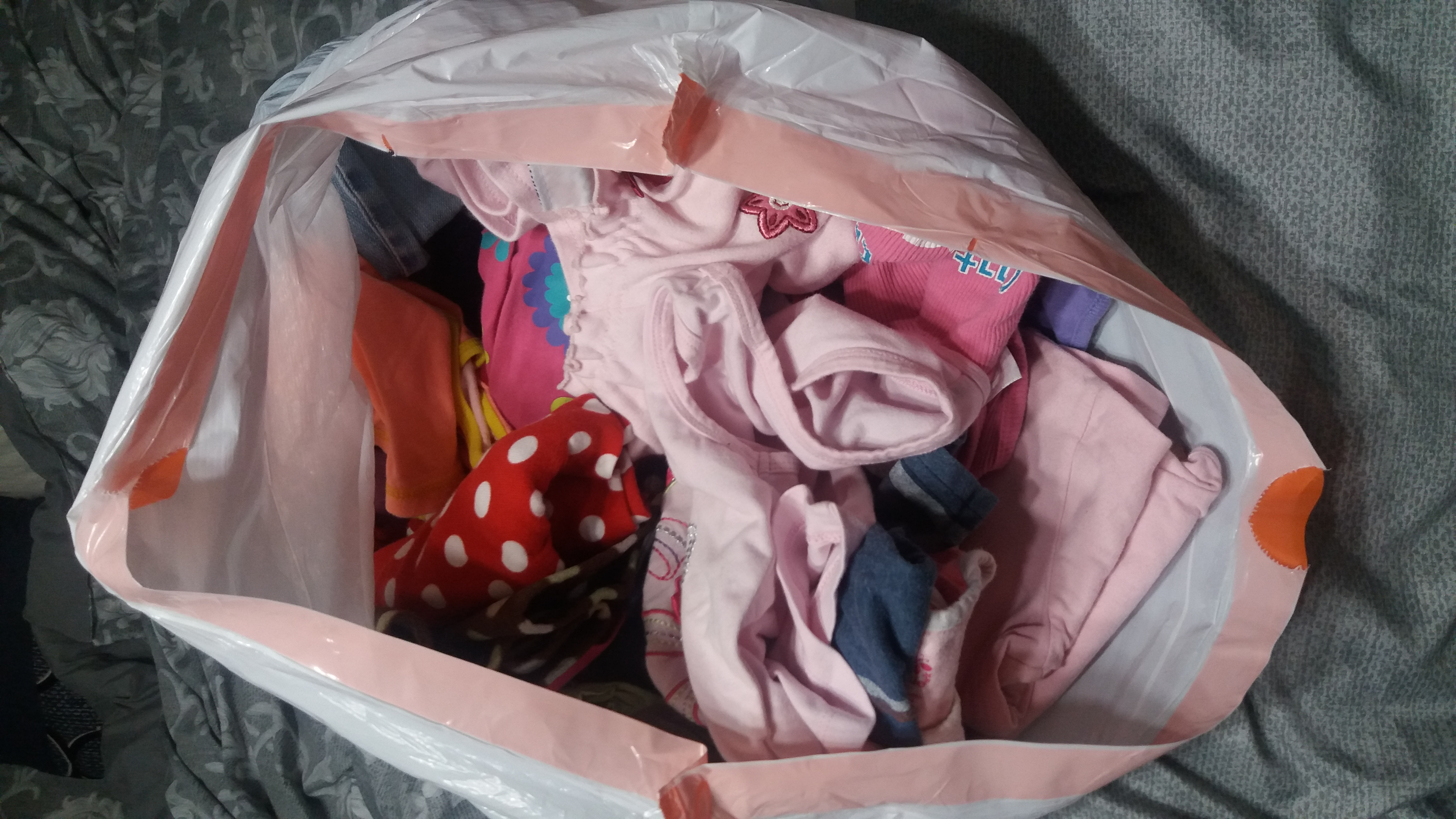 Bag full of 2T-3T girls clothes