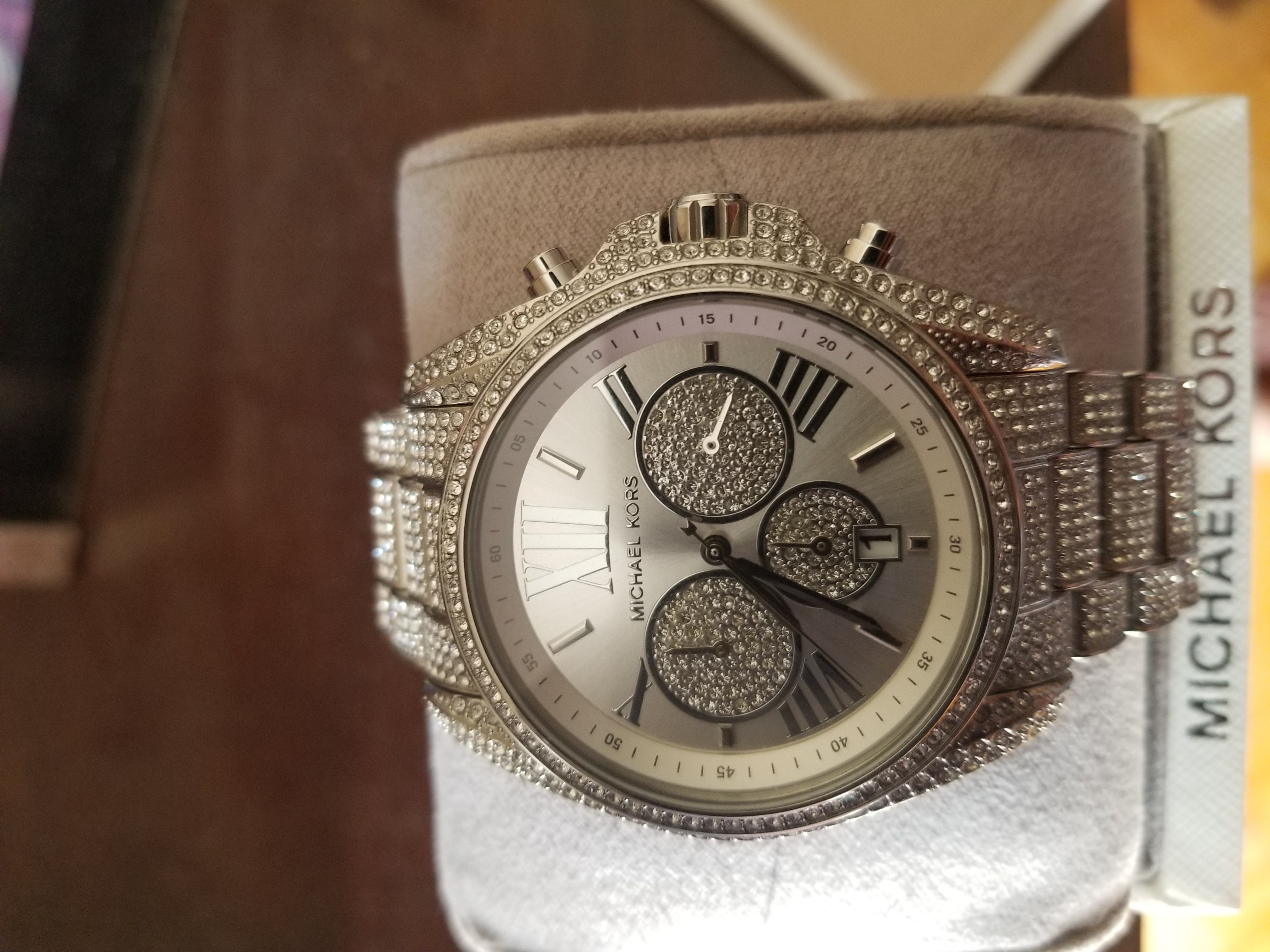 Michael Kors Authentic Pave Silver watch