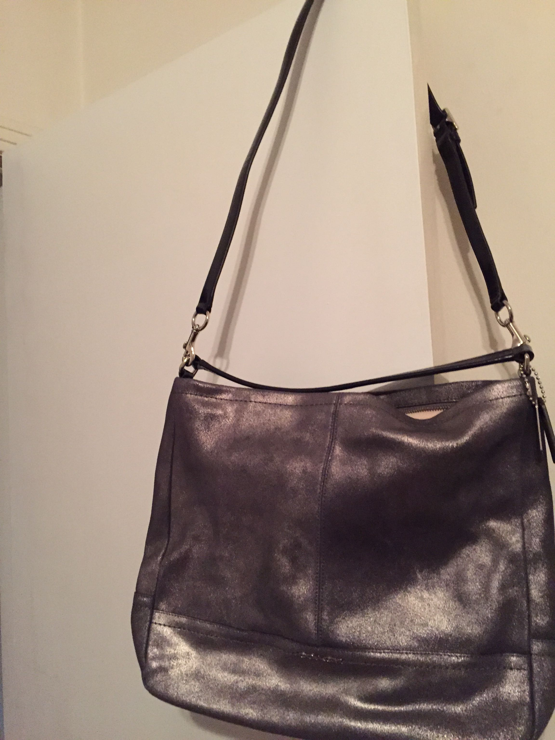 Authentic coach shoulder and cross body bag