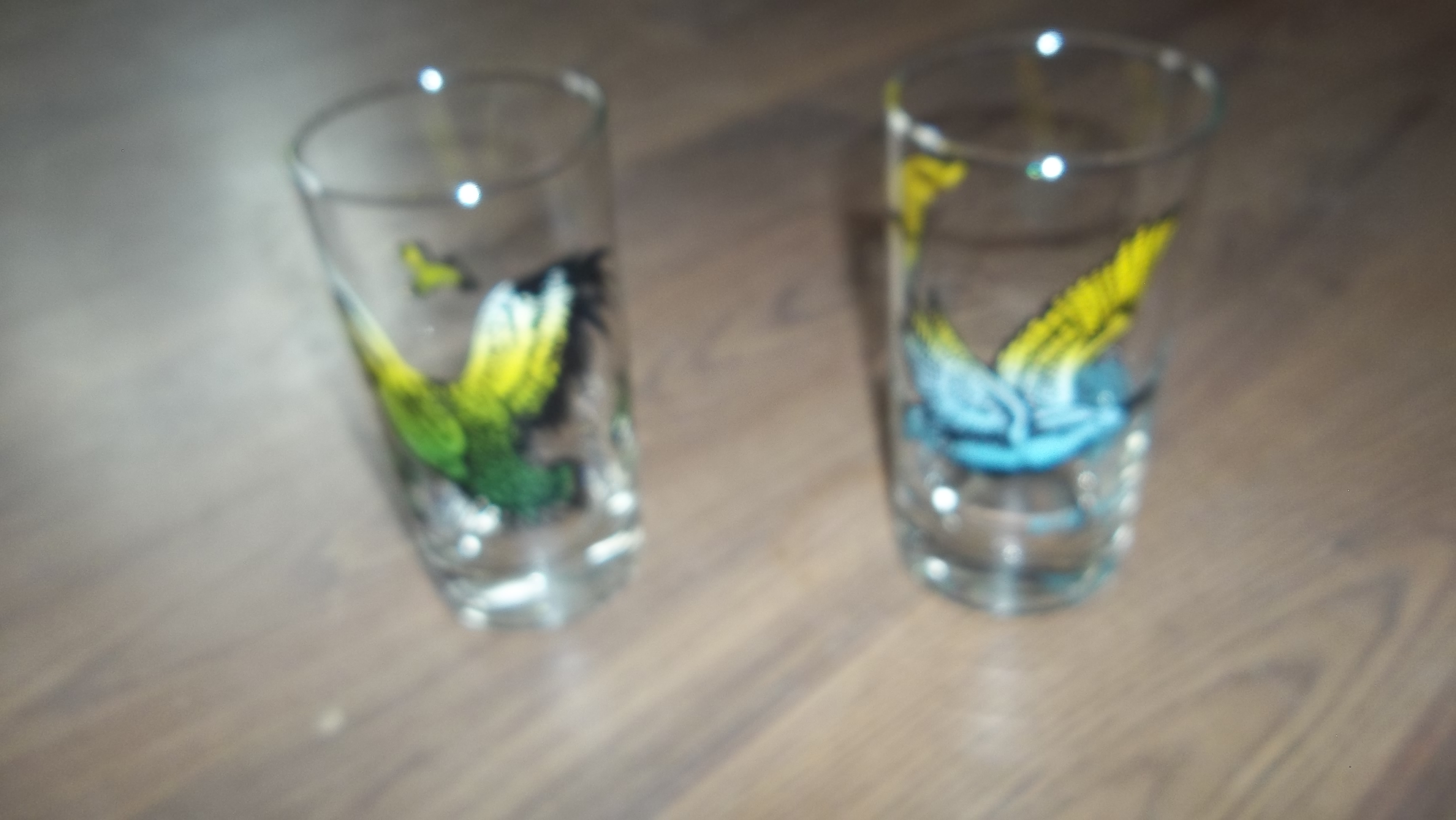 wild geease and quail glass