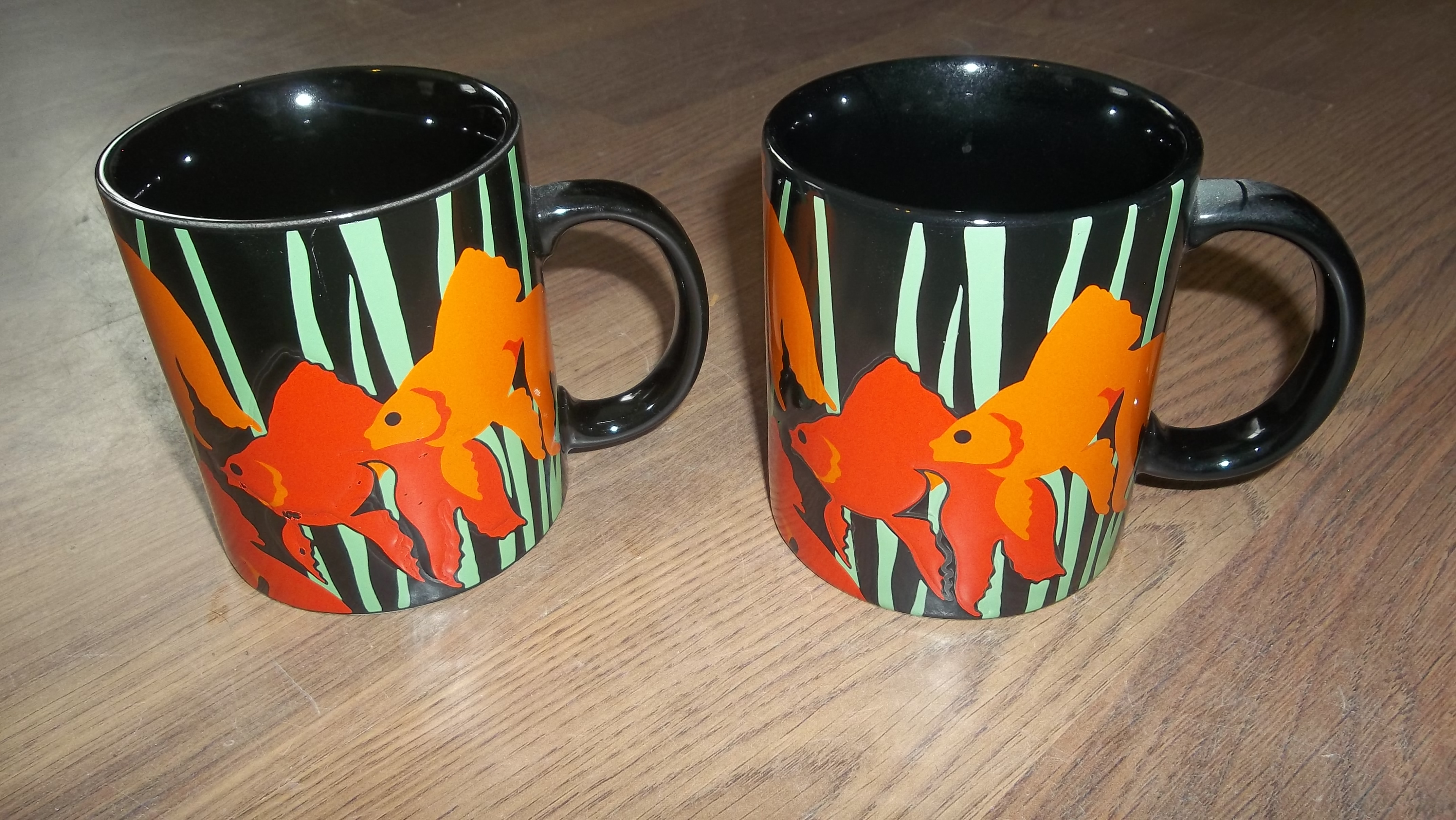 Vintage Fish Bouquet coffee mugs