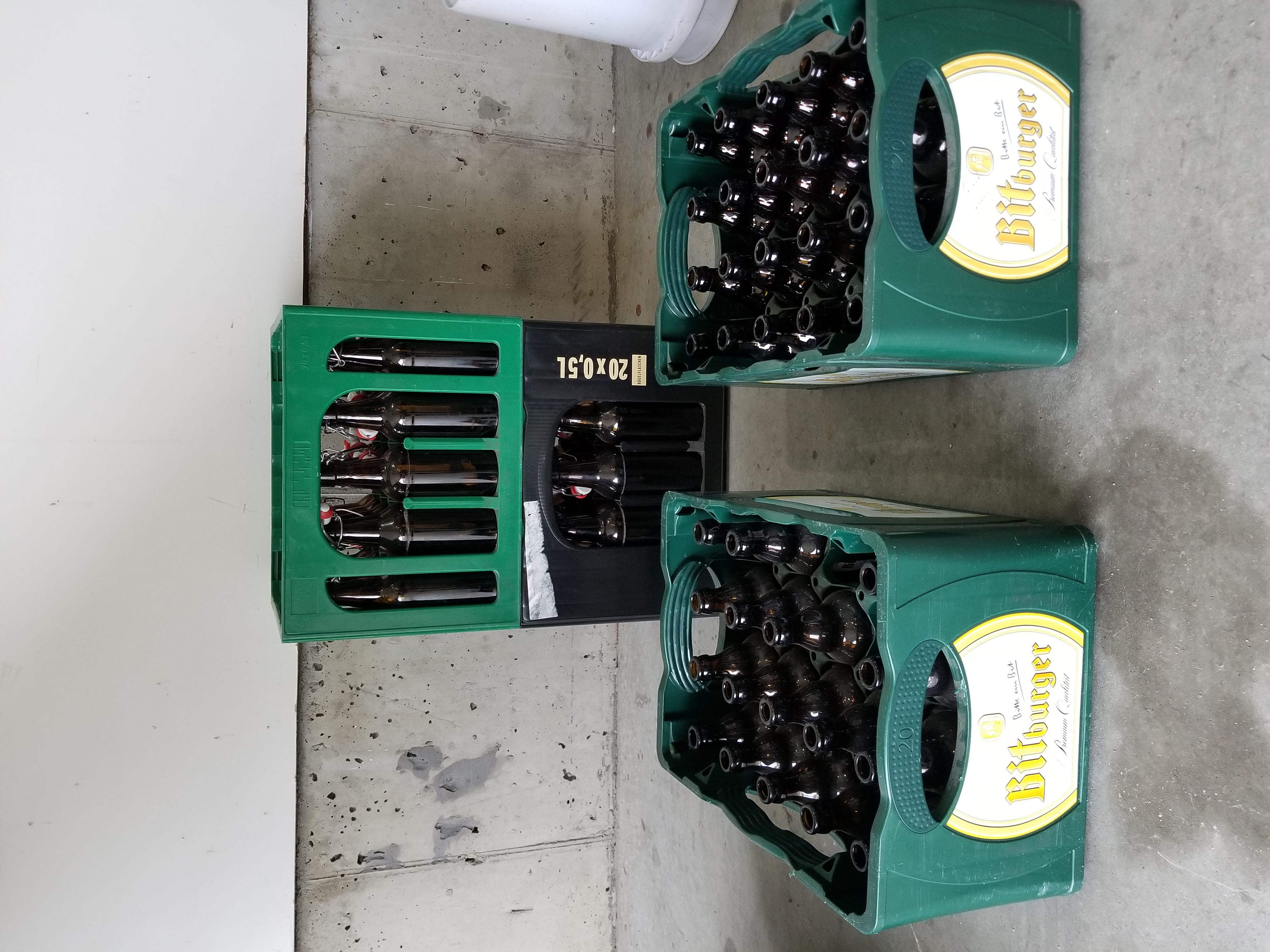 Beer Bottles and Crates