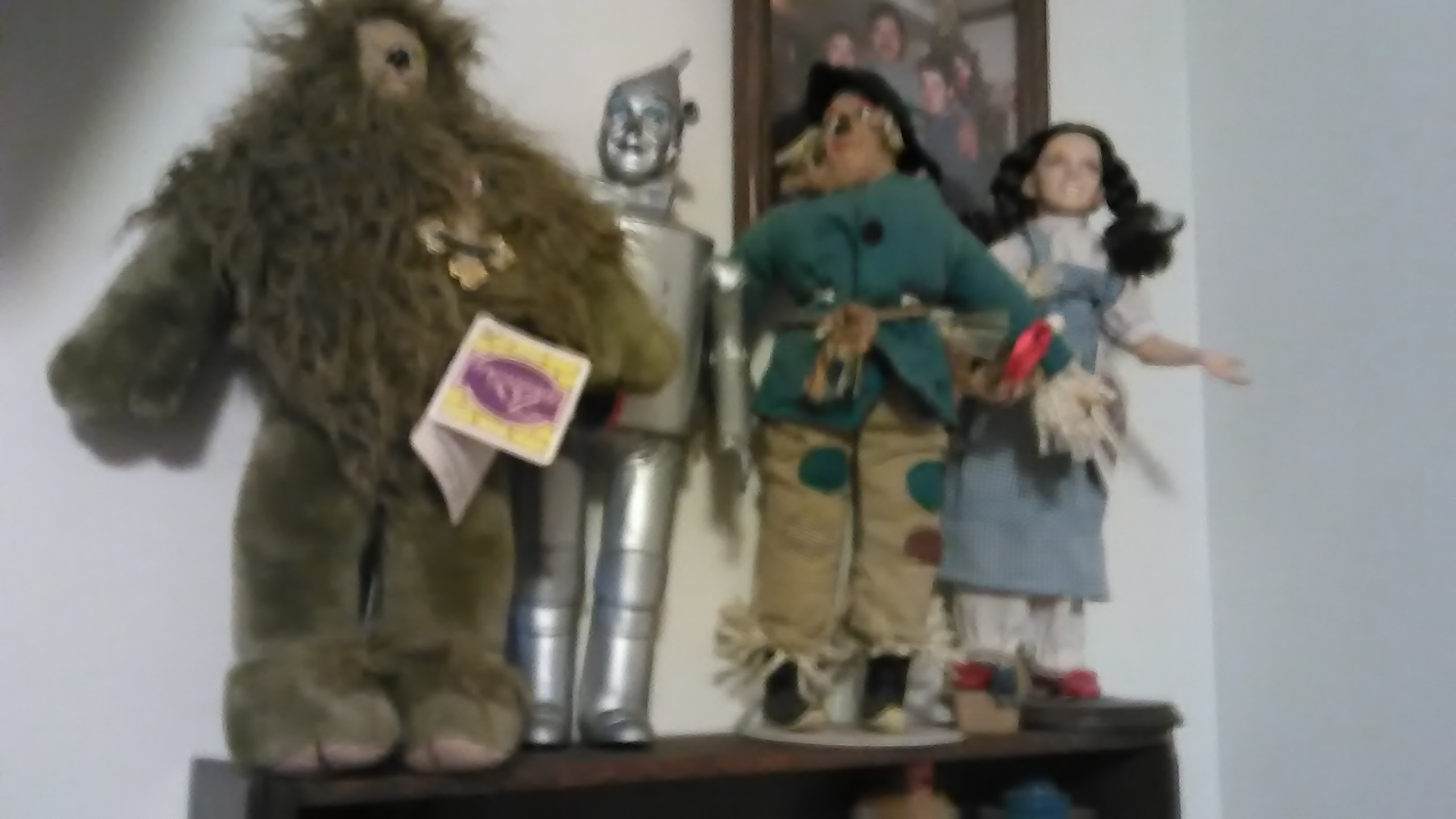 Vintage wizard of oz set. Dog. Witch