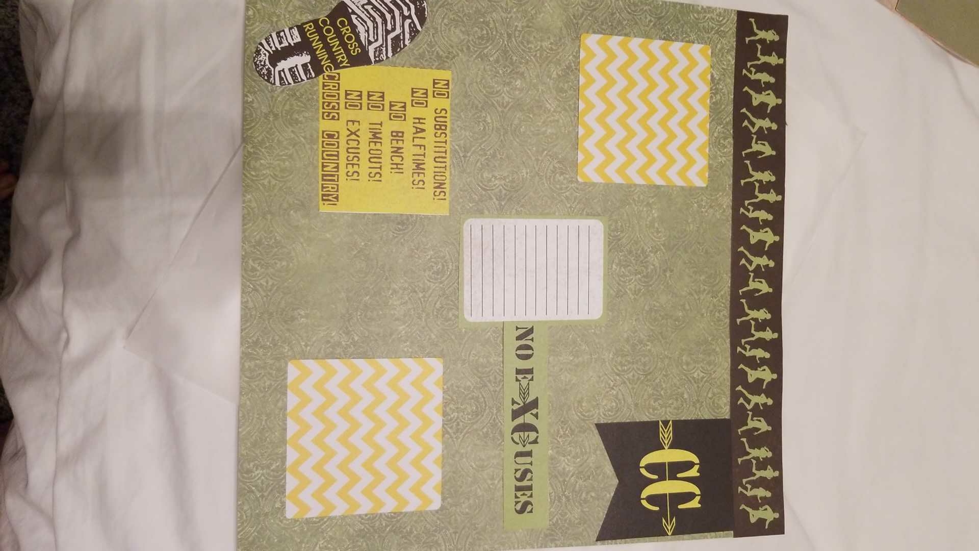 1 scrapbook cross country premade page