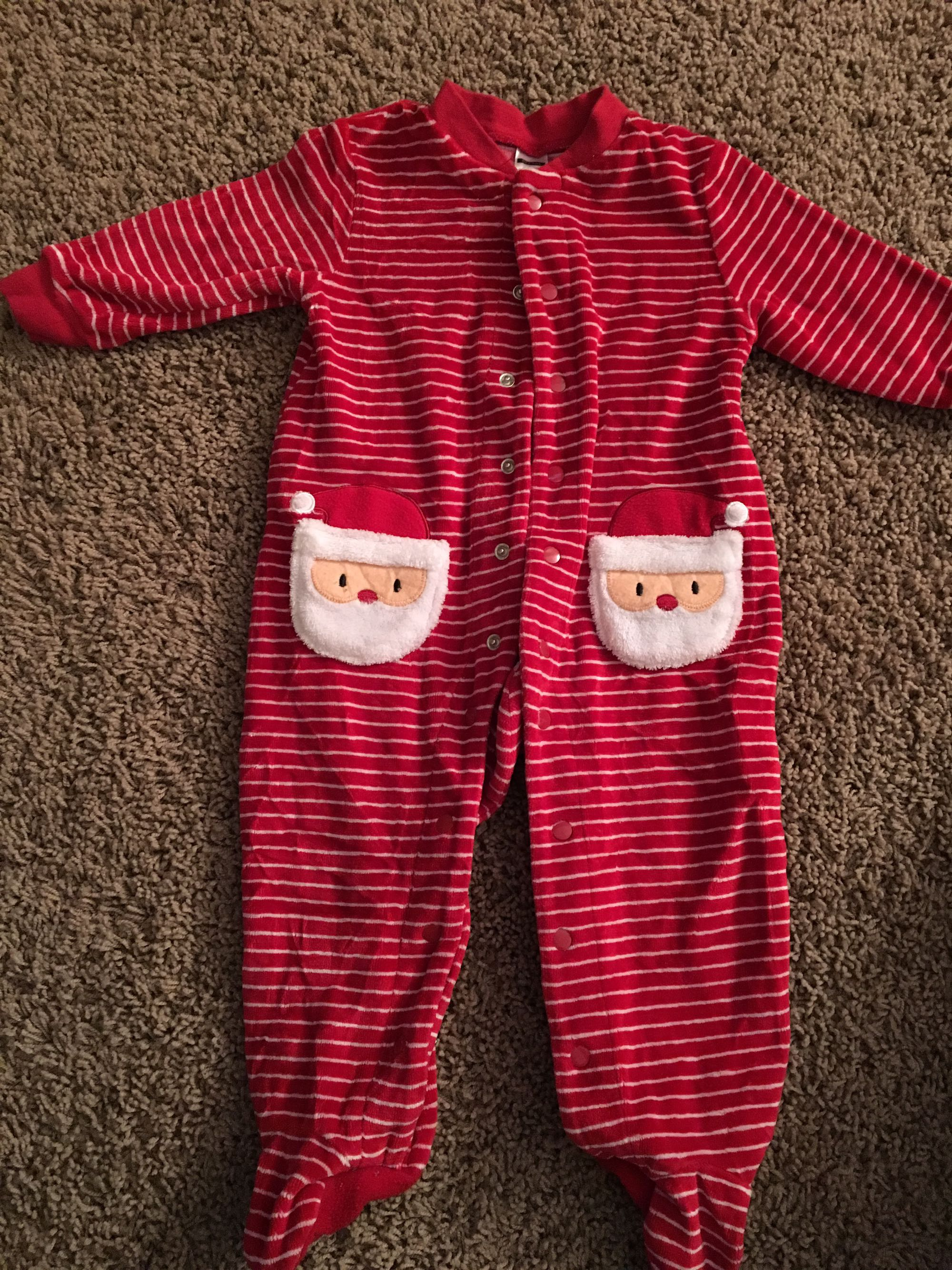 Super cute Santa sleeper! 12 months