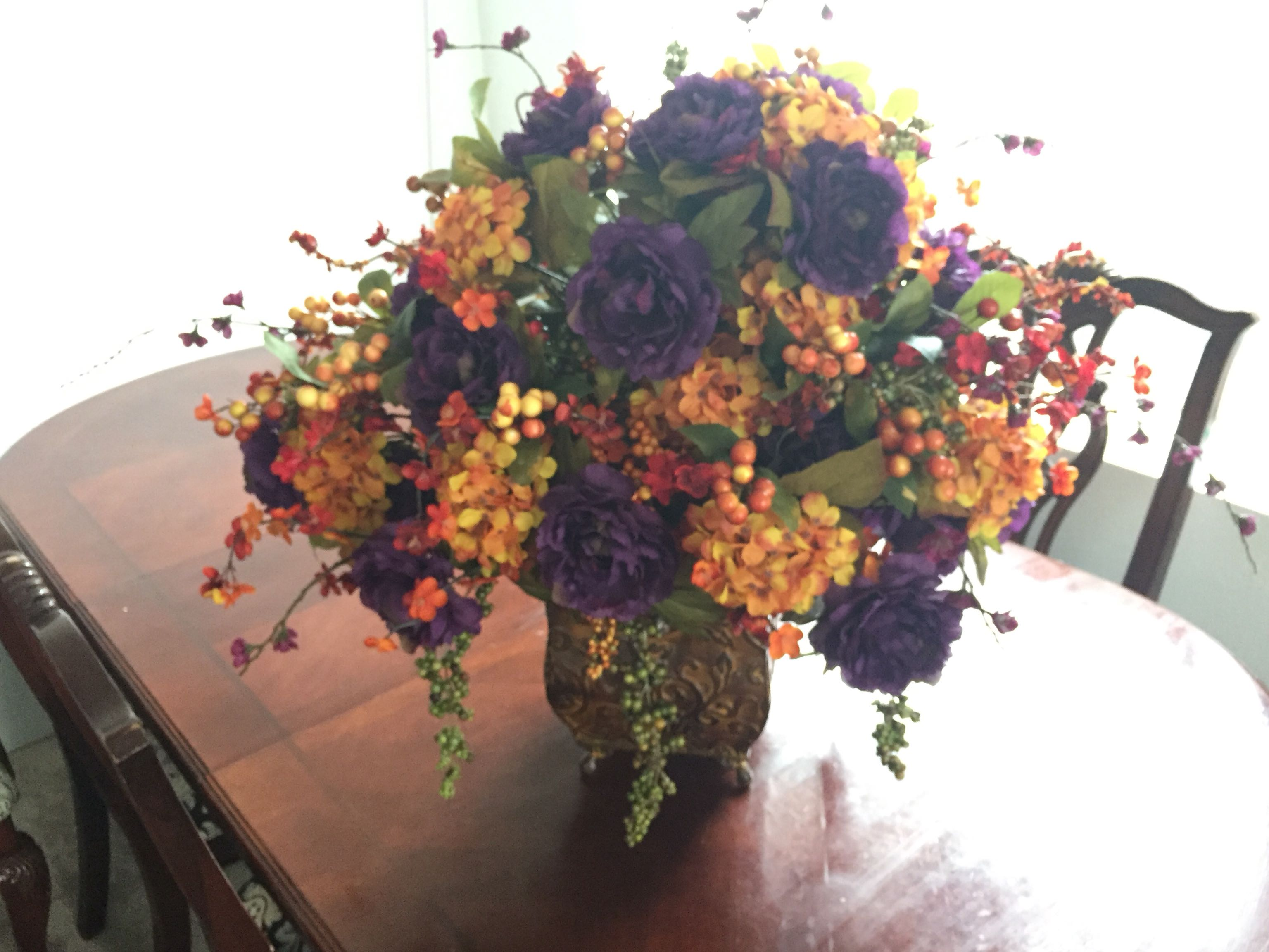 Large Fall Wedding Centerpiece