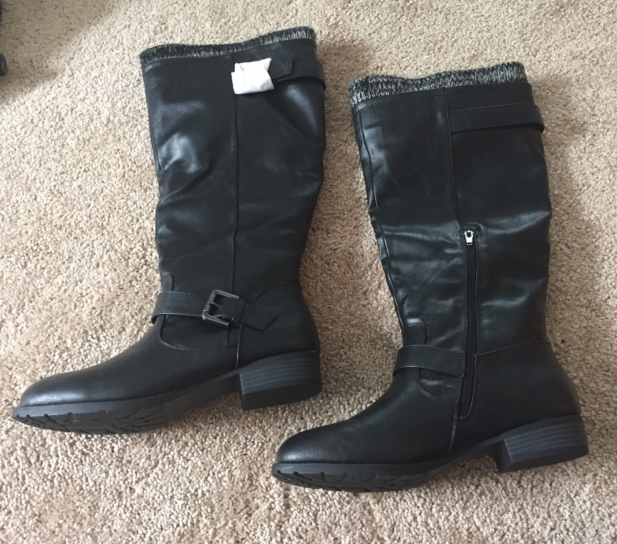 Brand New Black Boots - Size 9 Wide Calf